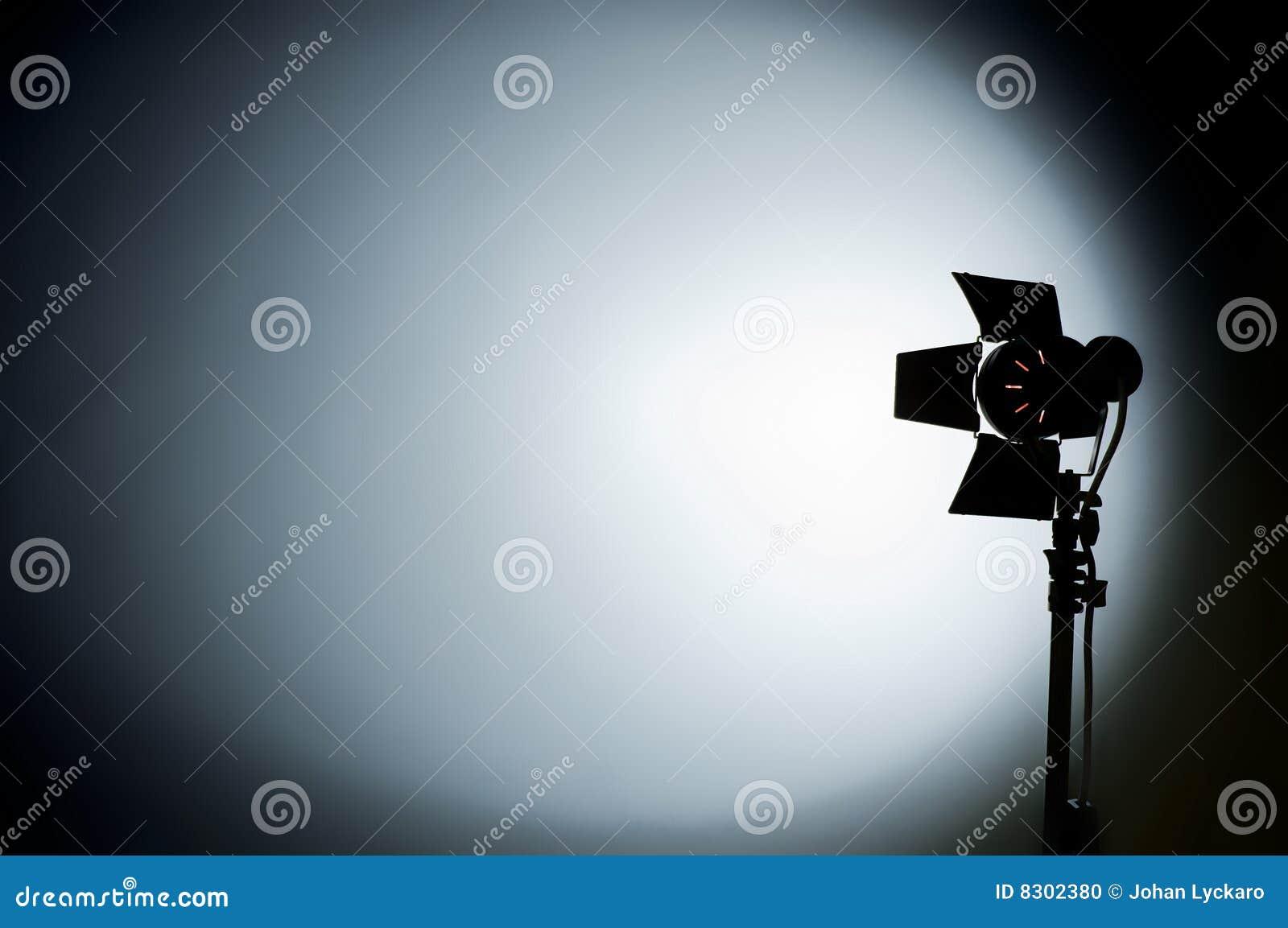 Siktad studio för backgrouhollywood ljus film