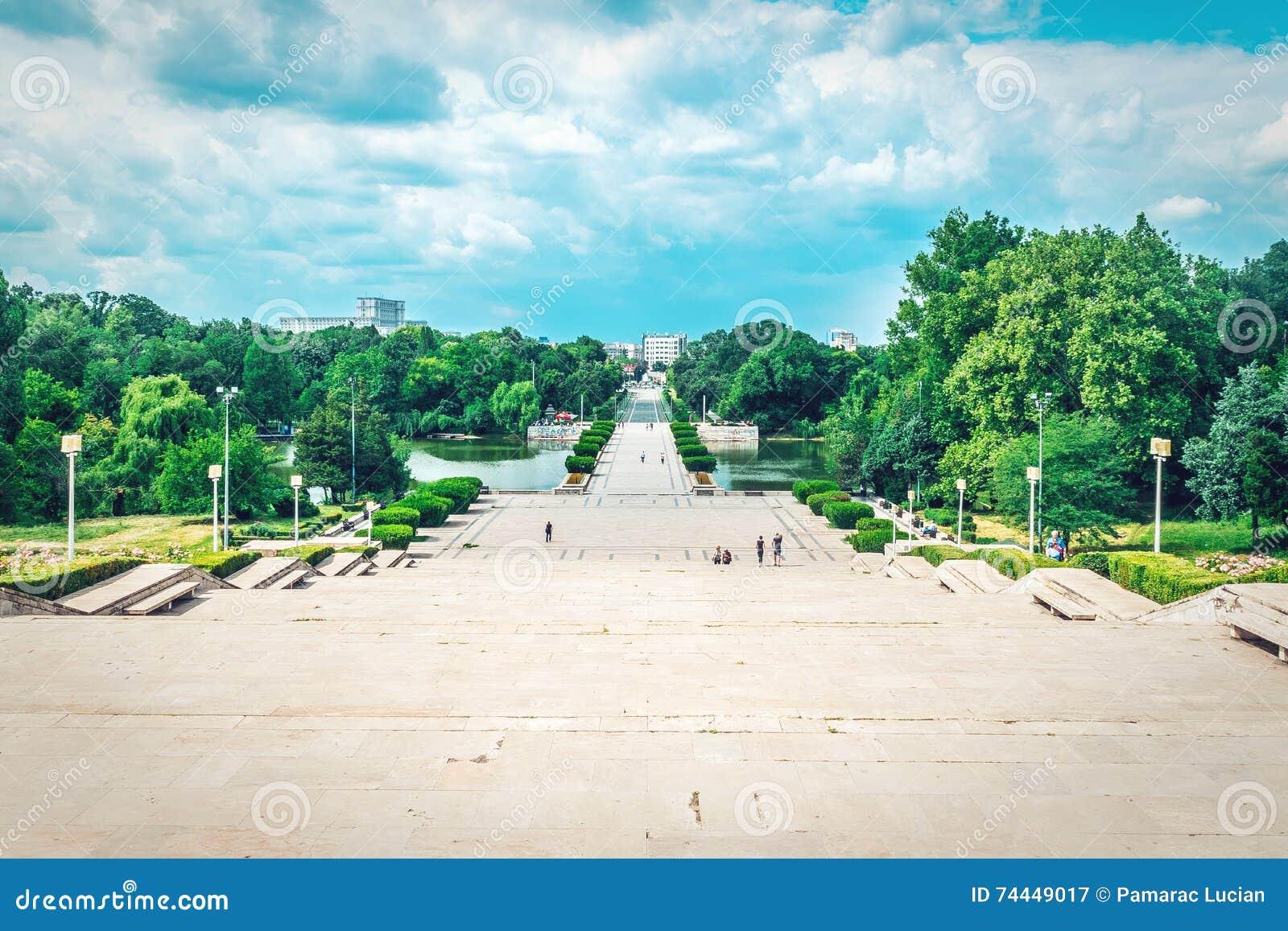 Sikten av lovsång 1 parkerar i Bucharest