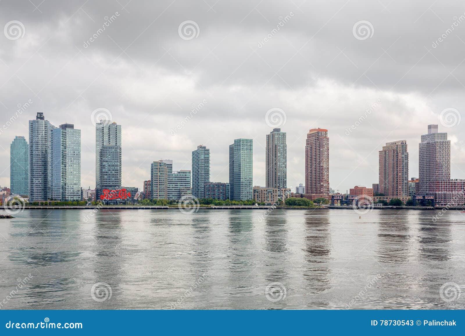 Sikter av East River från Förenta Nationernabyggande