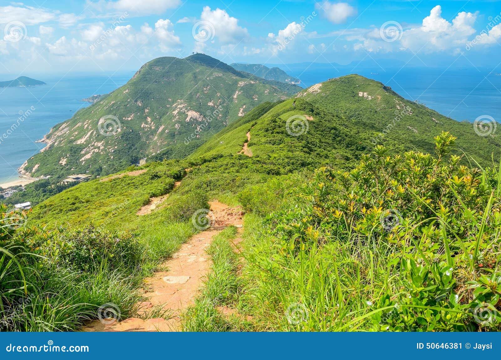 Sikter och natur för Hong Kong slinga härliga