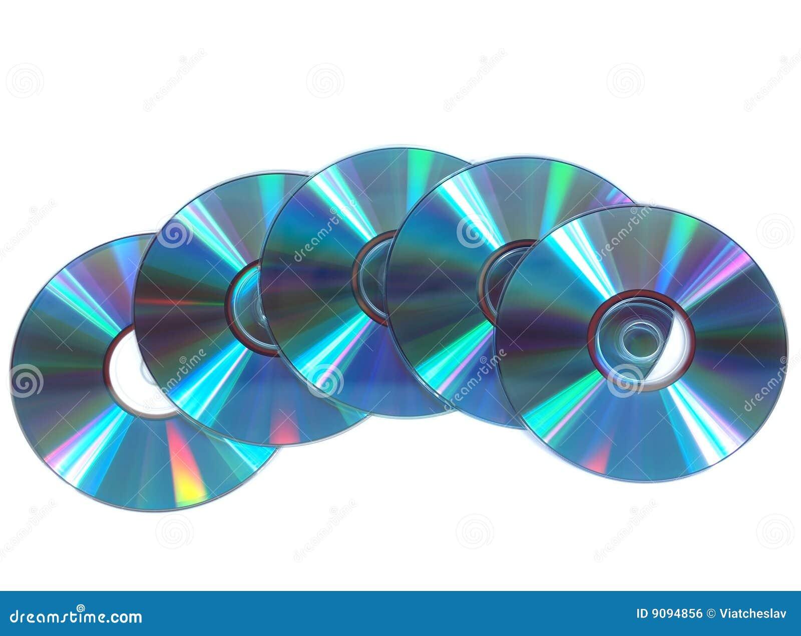 Silber-blaues CD, DVD Platten