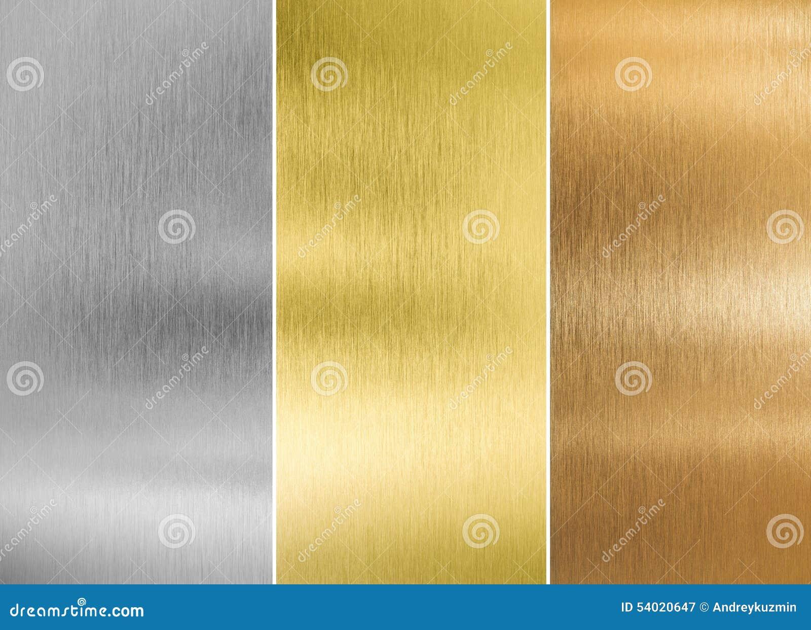 Silber der hohen Qualität, Gold und Bronzemetall