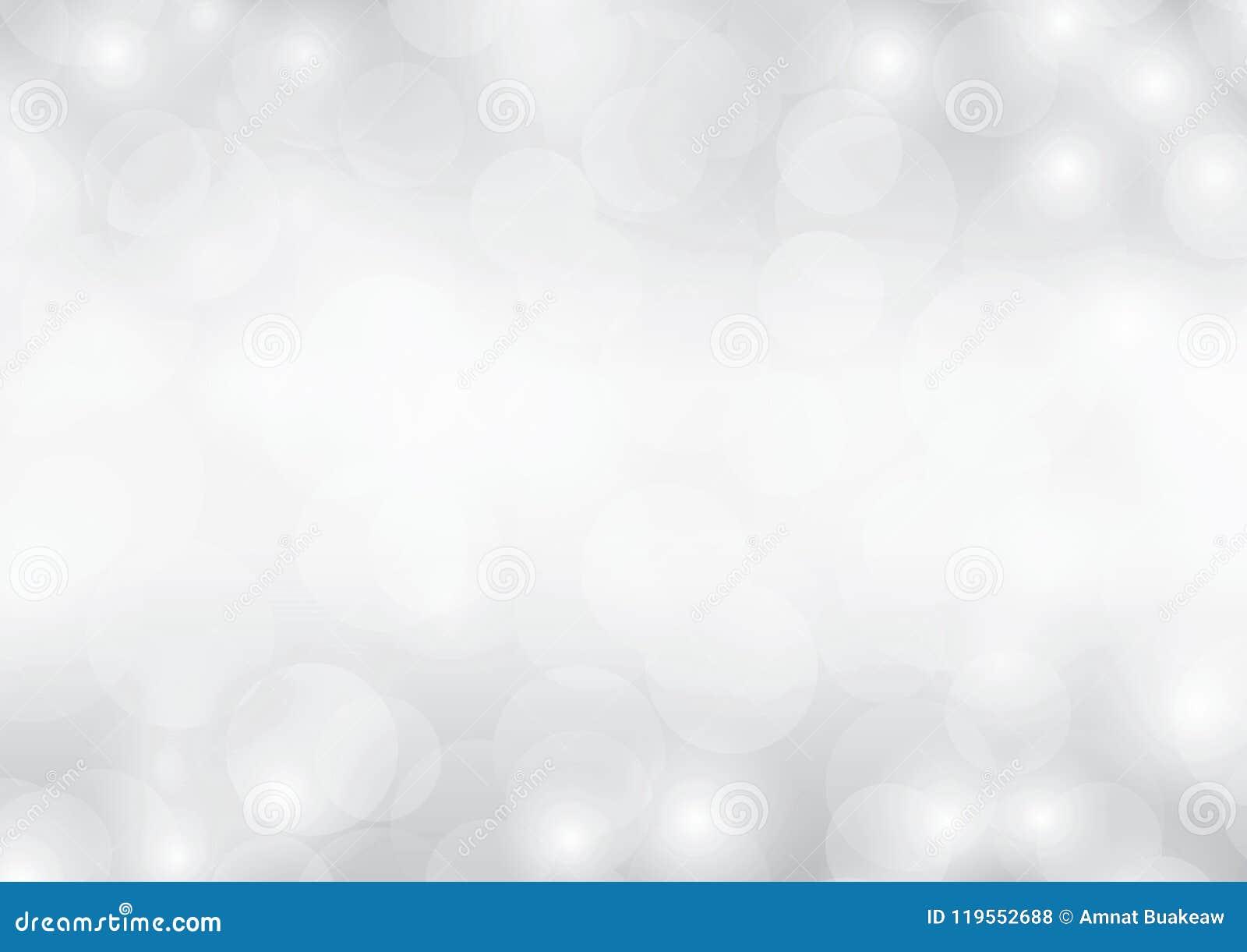 Silberhintergrund bokeh des grauen Weiß funkelnde unscharfe Steigung funkelnden abstrakten Luxuslichtes