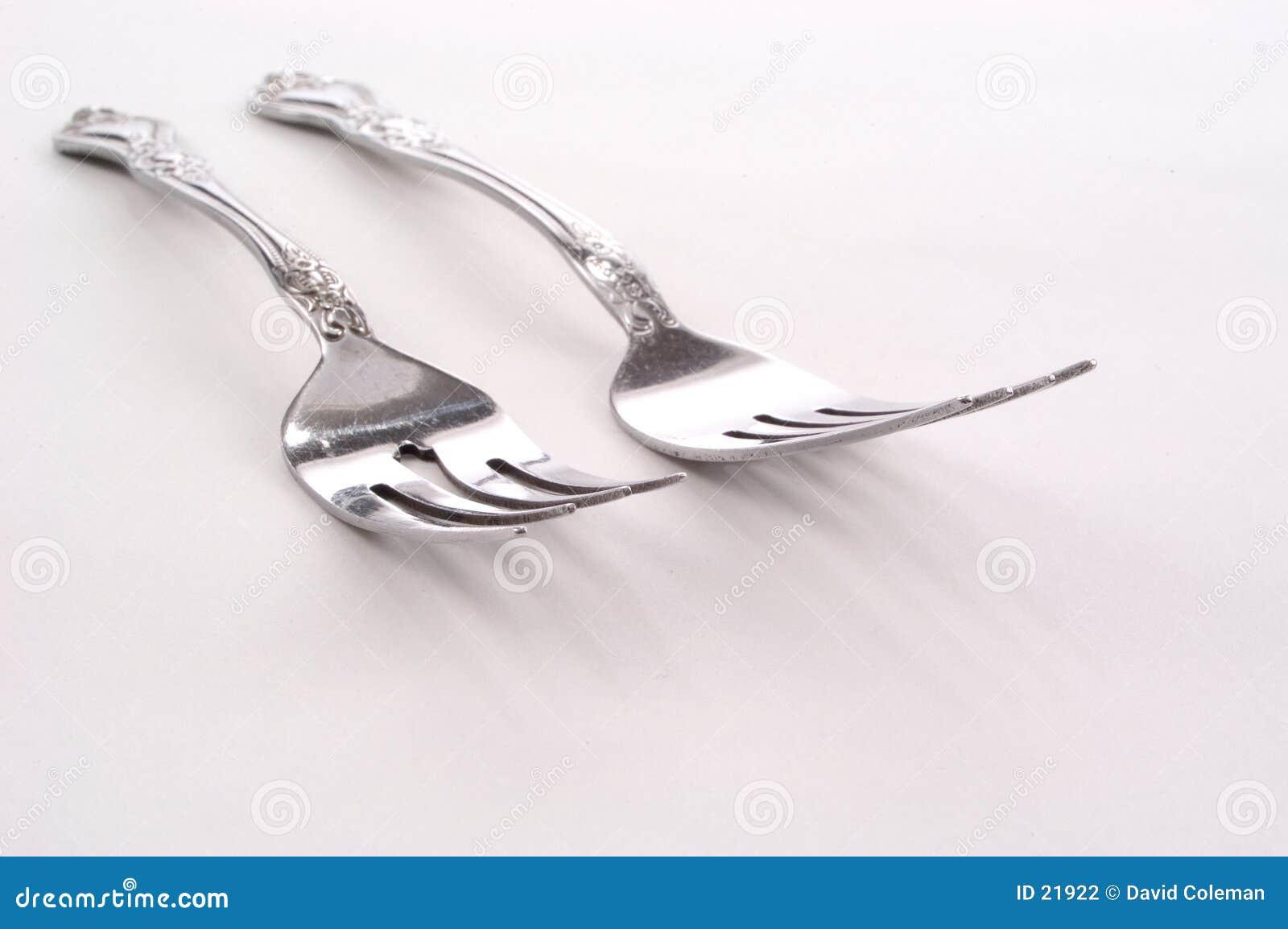 Silberne Gabeln