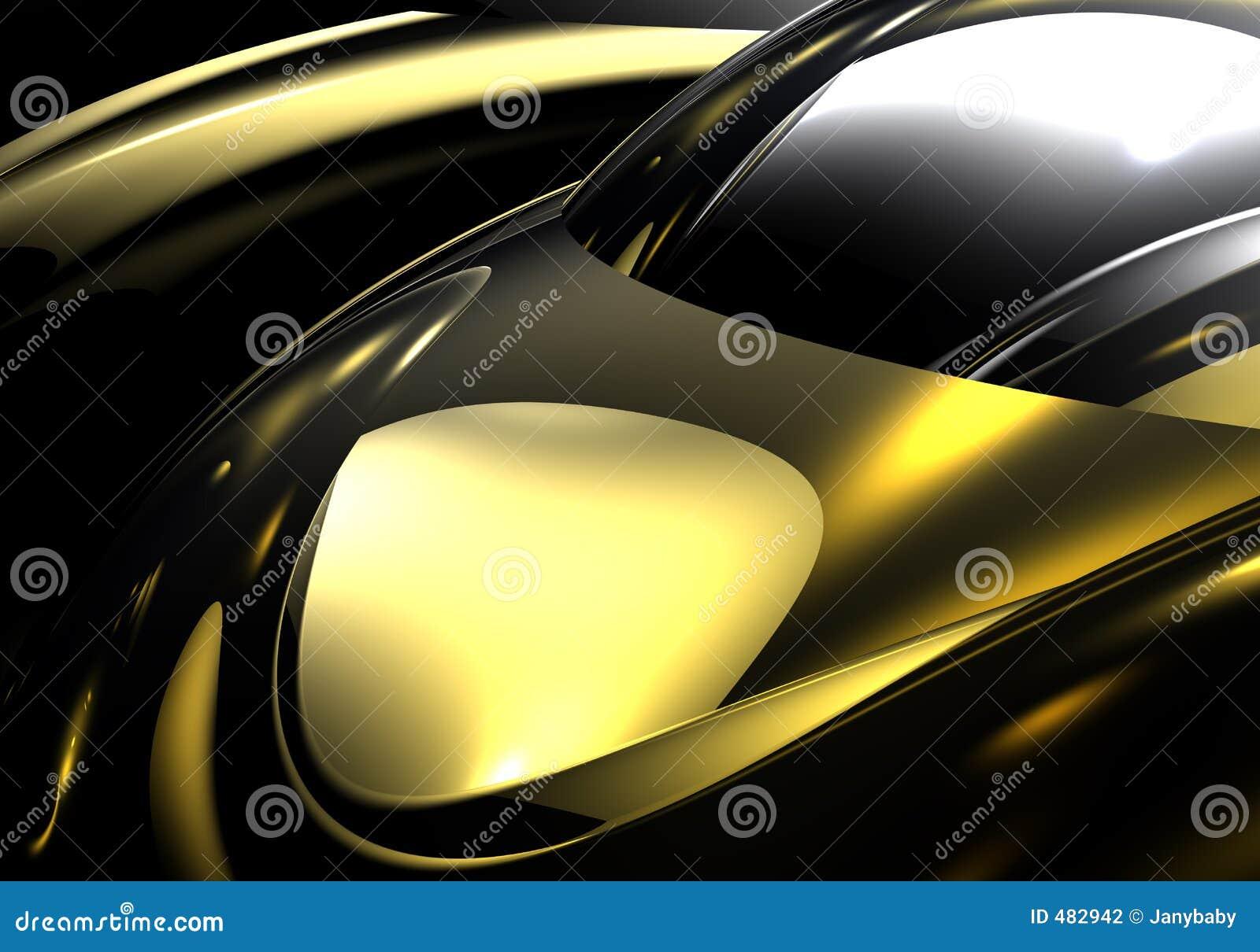Silberne Kugel in goldenem metall 01