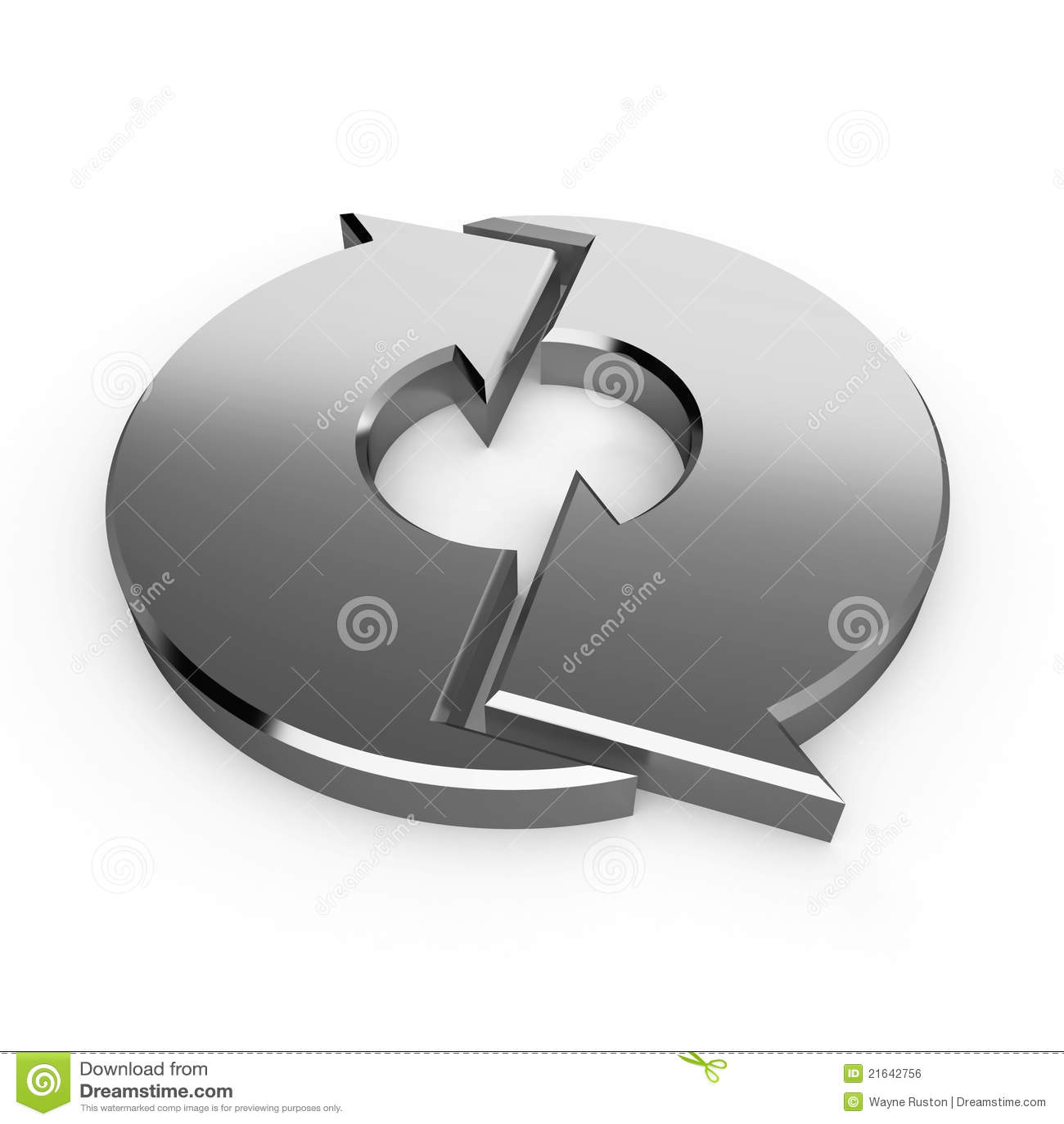 Silberne Prozesspfeile
