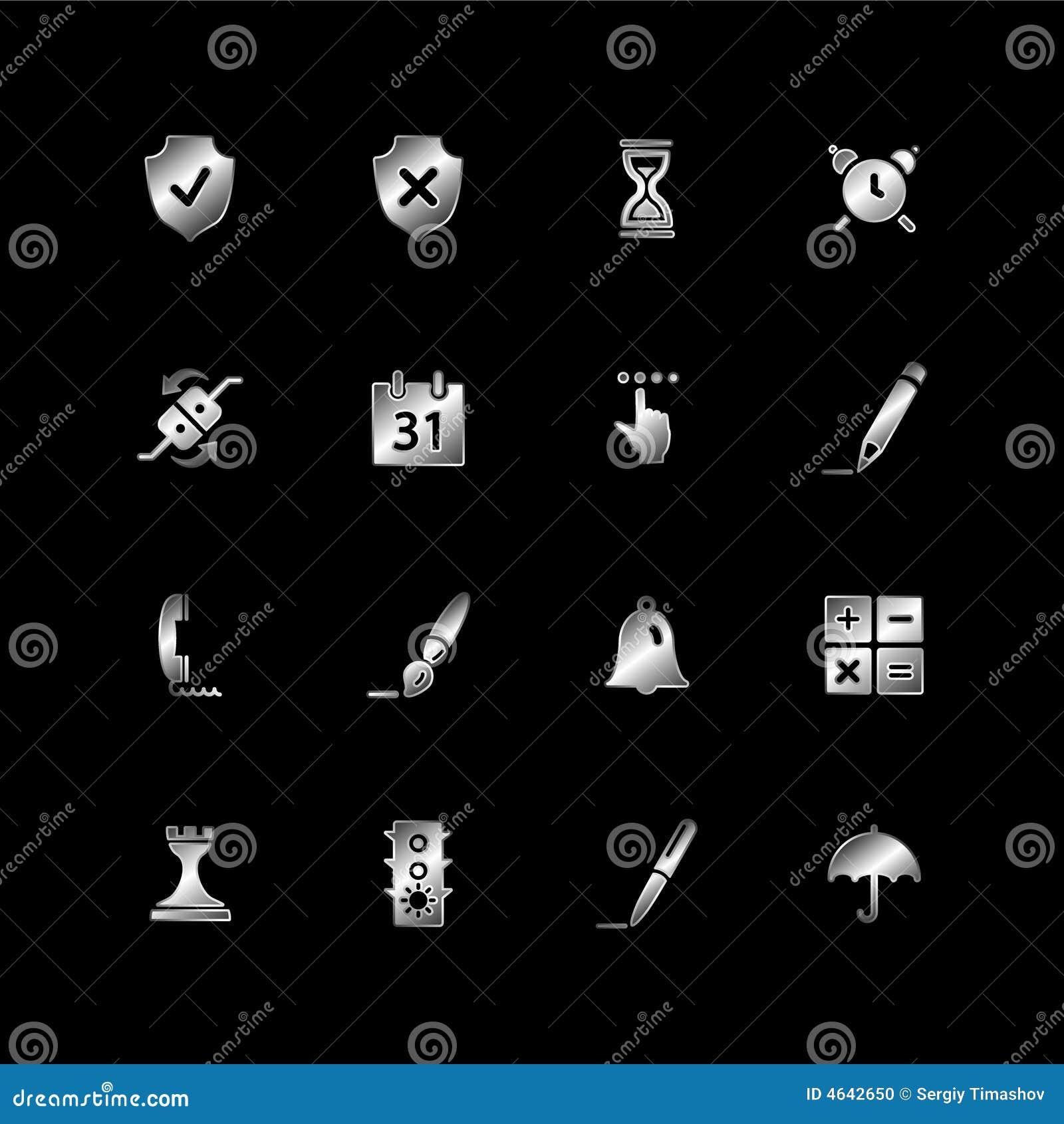 Silberne Software-Ikonen