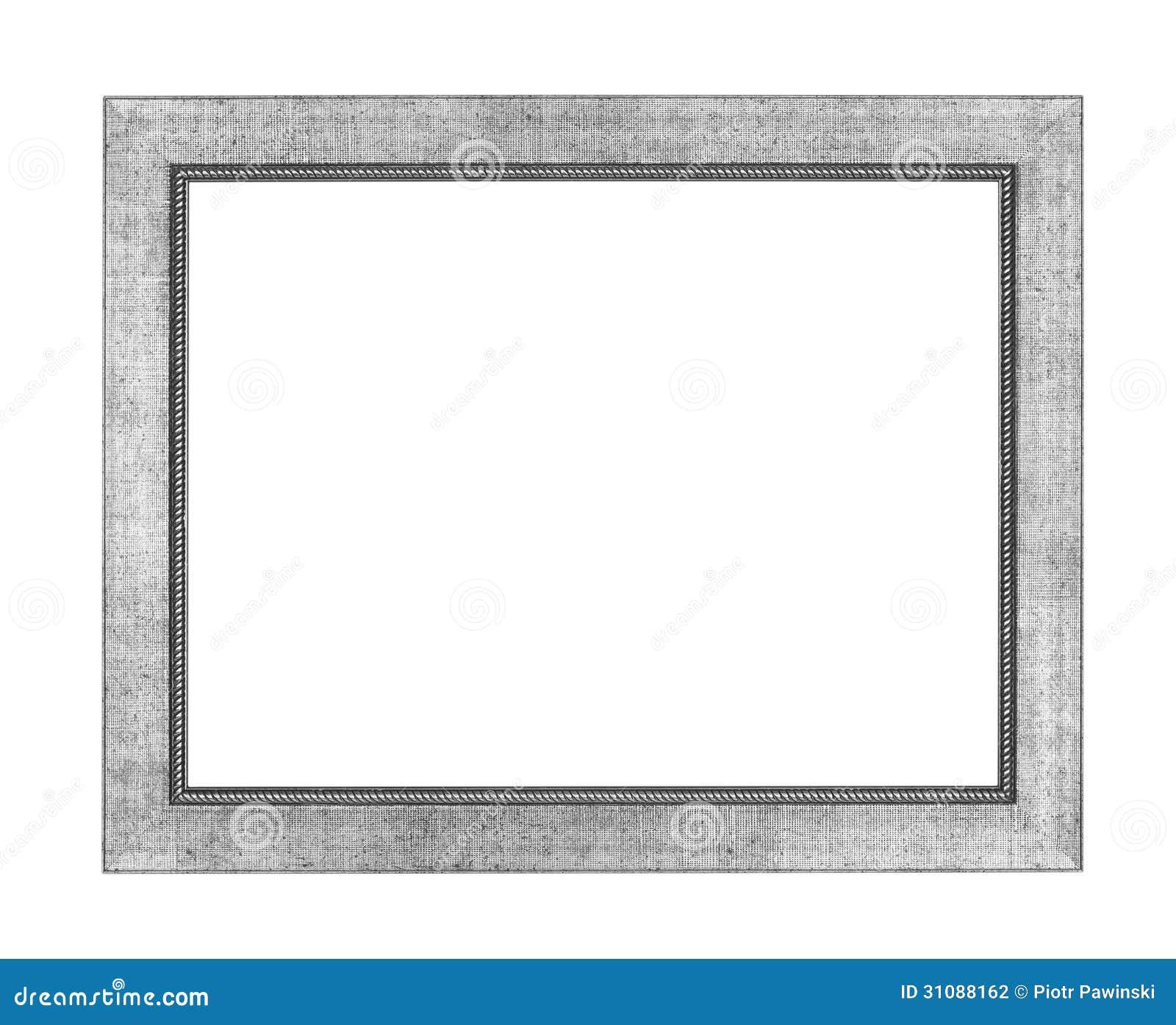 Silberner Bilderrahmen stockfoto. Bild von geöffnet, nouveau - 31088162