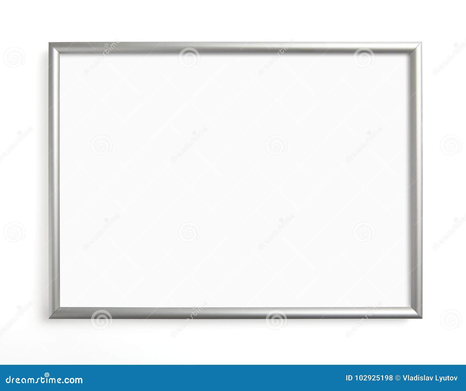 Silberner Rahmen Für Das Malen Oder Bild Auf Weißem Hintergrund ...
