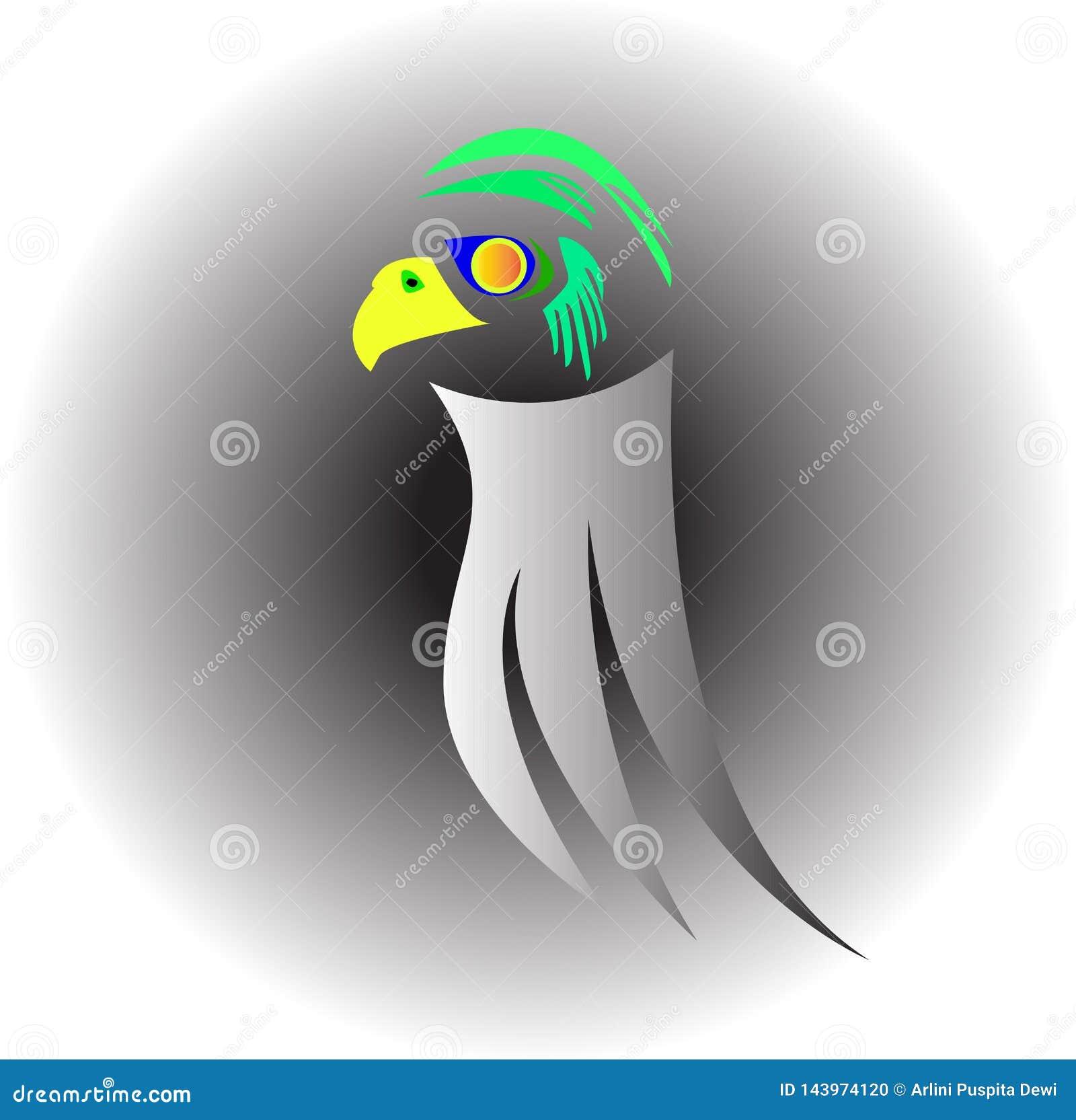 Silberner Vogel, der gehockt wird
