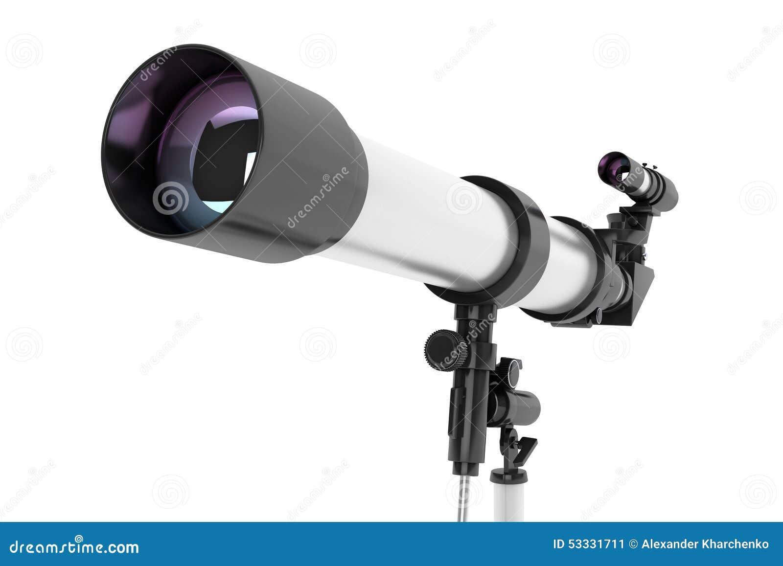 Silbernes teleskop auf stativ stockbild bild von bereich