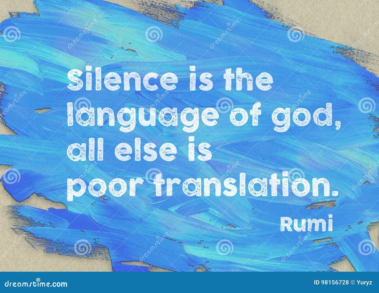 Silence Is Rumi Stock Photo Image Of Education Brush 98156728