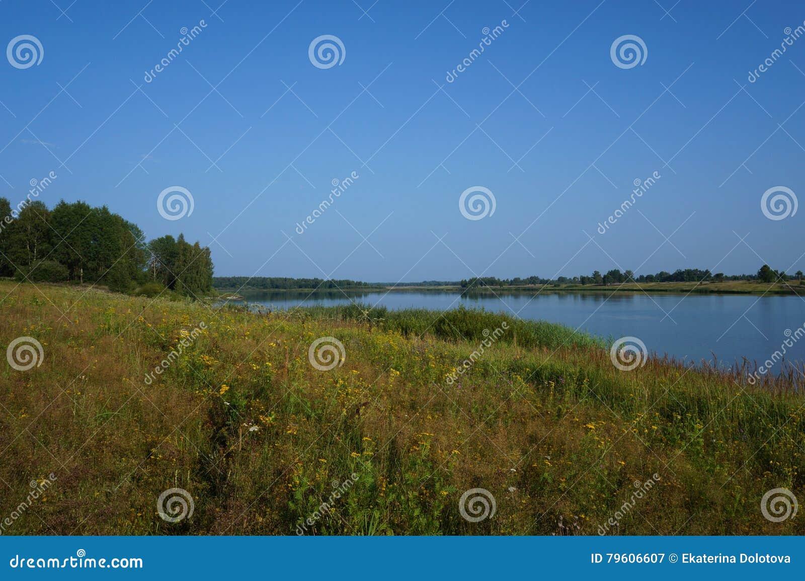 Silencioso alise a superfície da água no rio