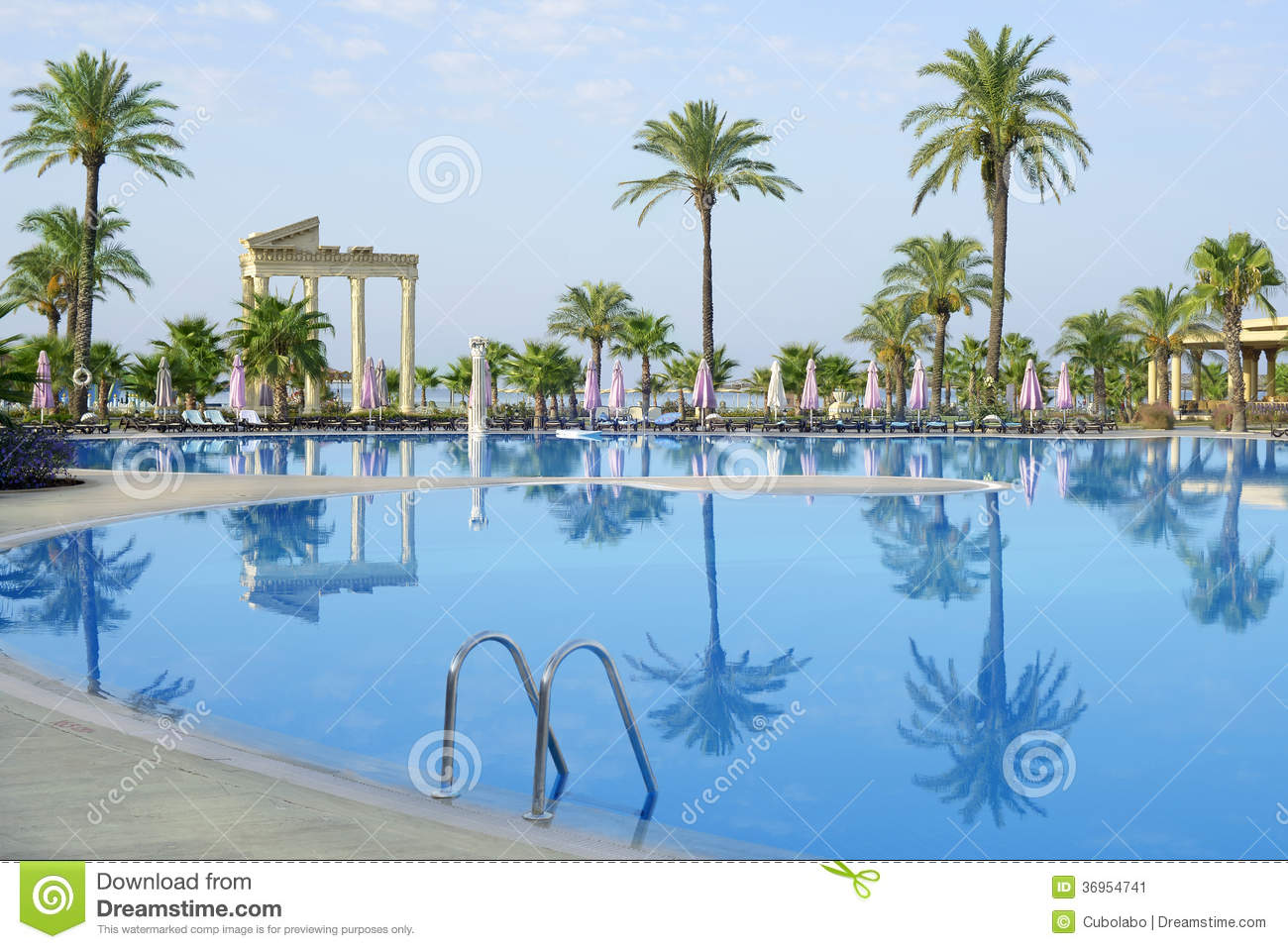 Silent Morning Near The Swimming Pool Stock Image Image 36954741