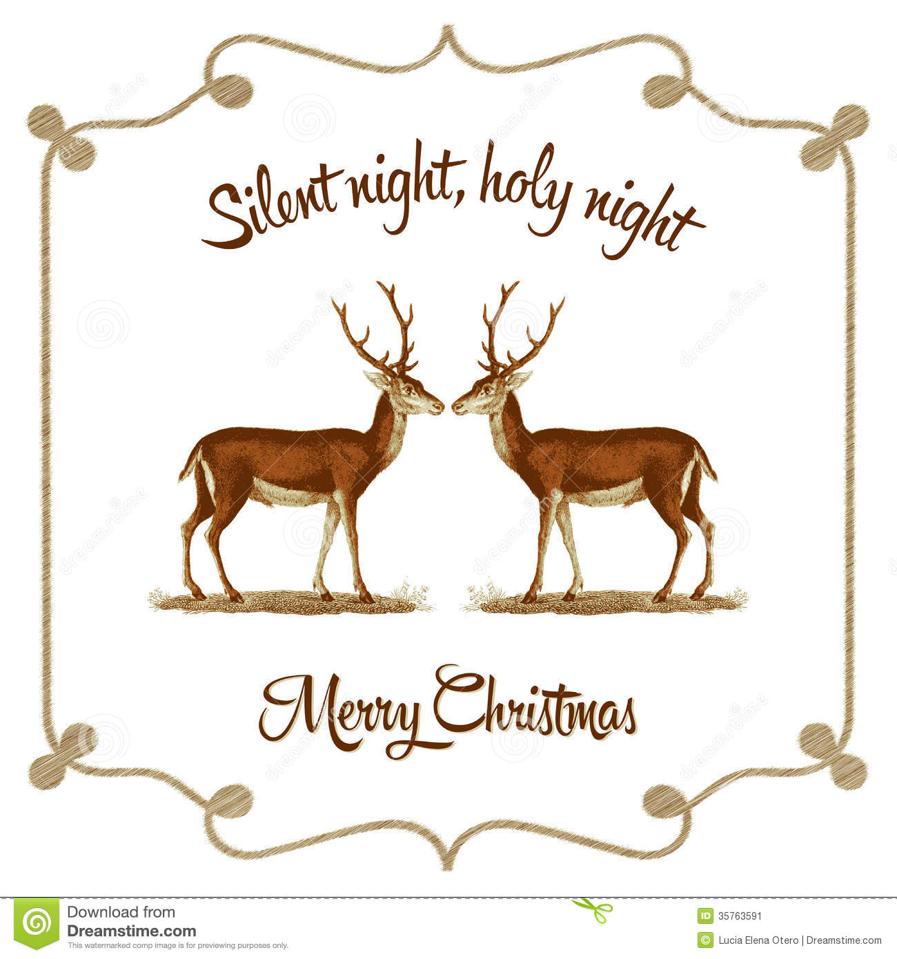 Silent Night, Holy Night - Christmas Card Stock Vector ...