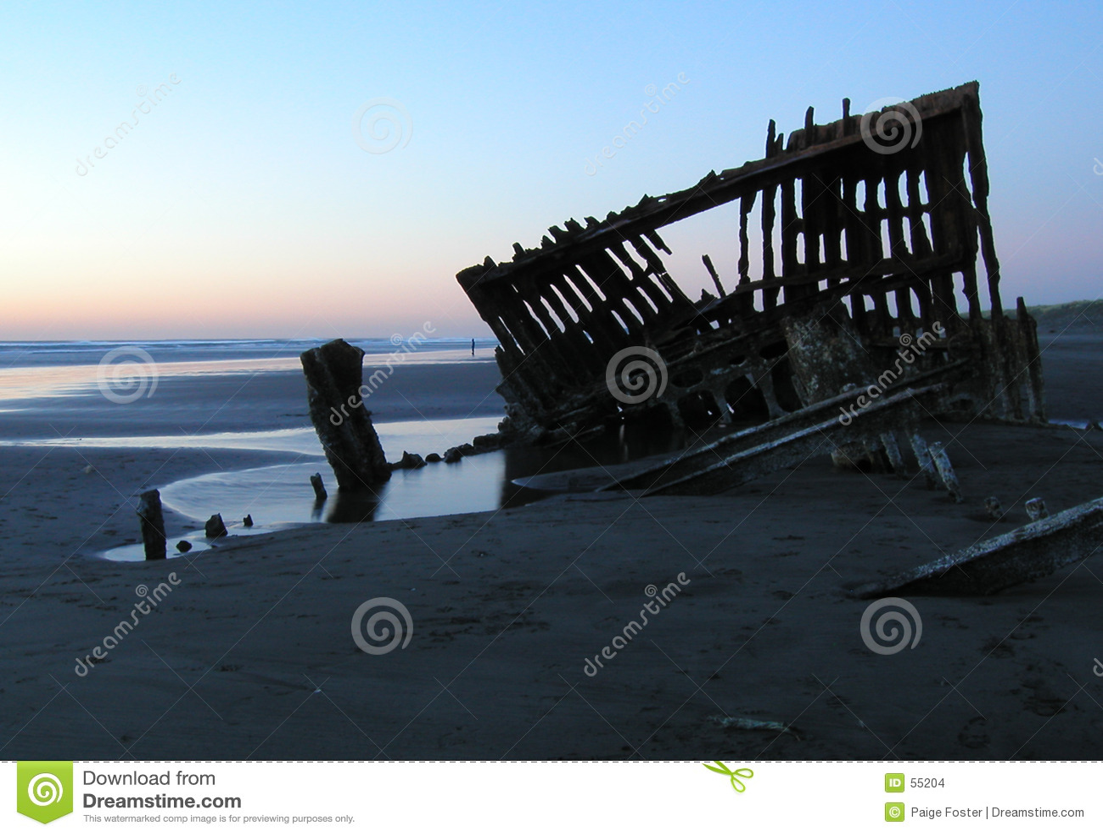 Silhouet 2 van de schipbreuk