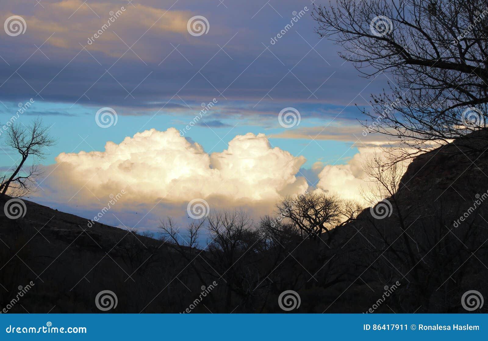 Silhouet in de Canion