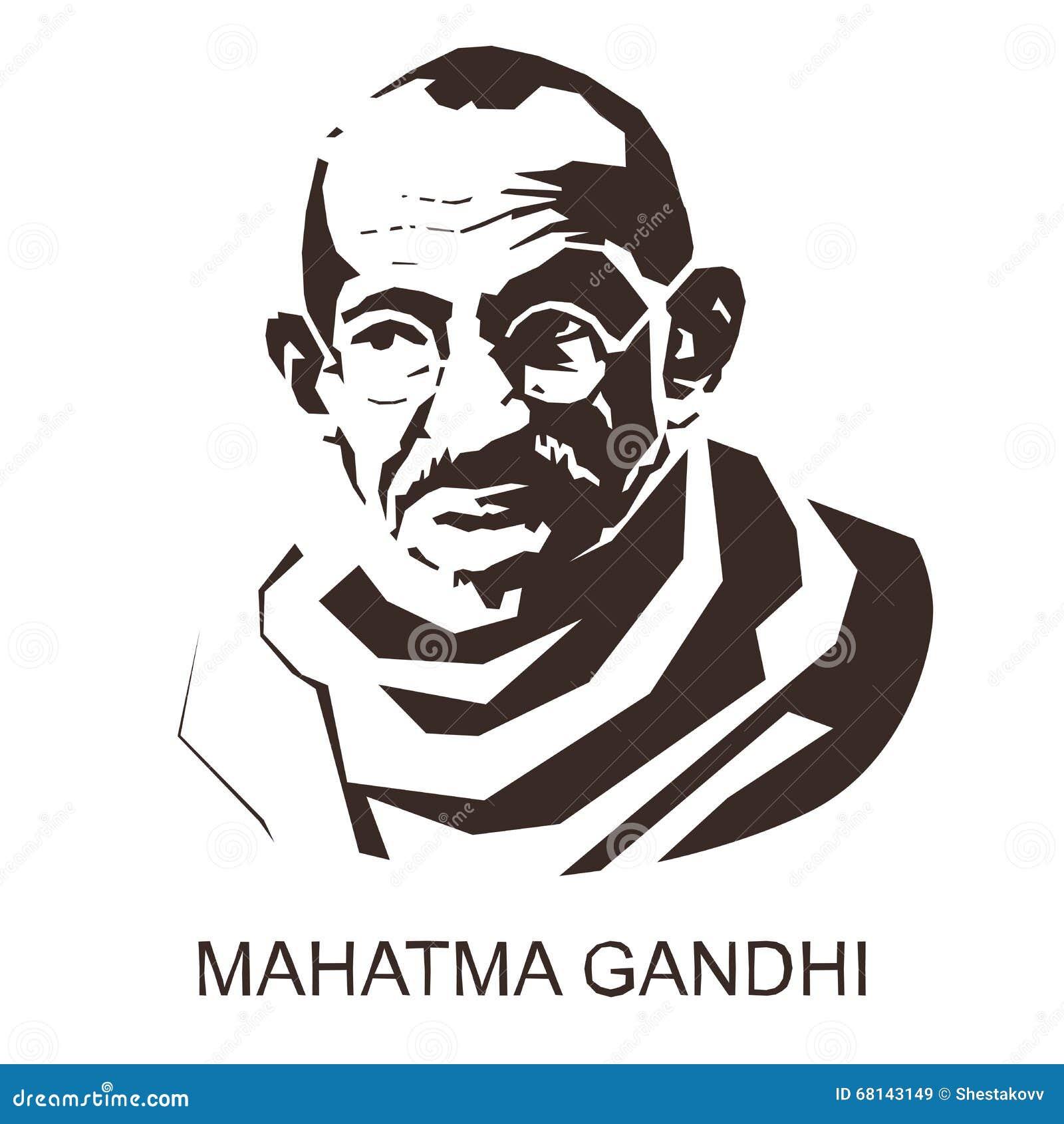 Silhouet Mahatma Gandhi