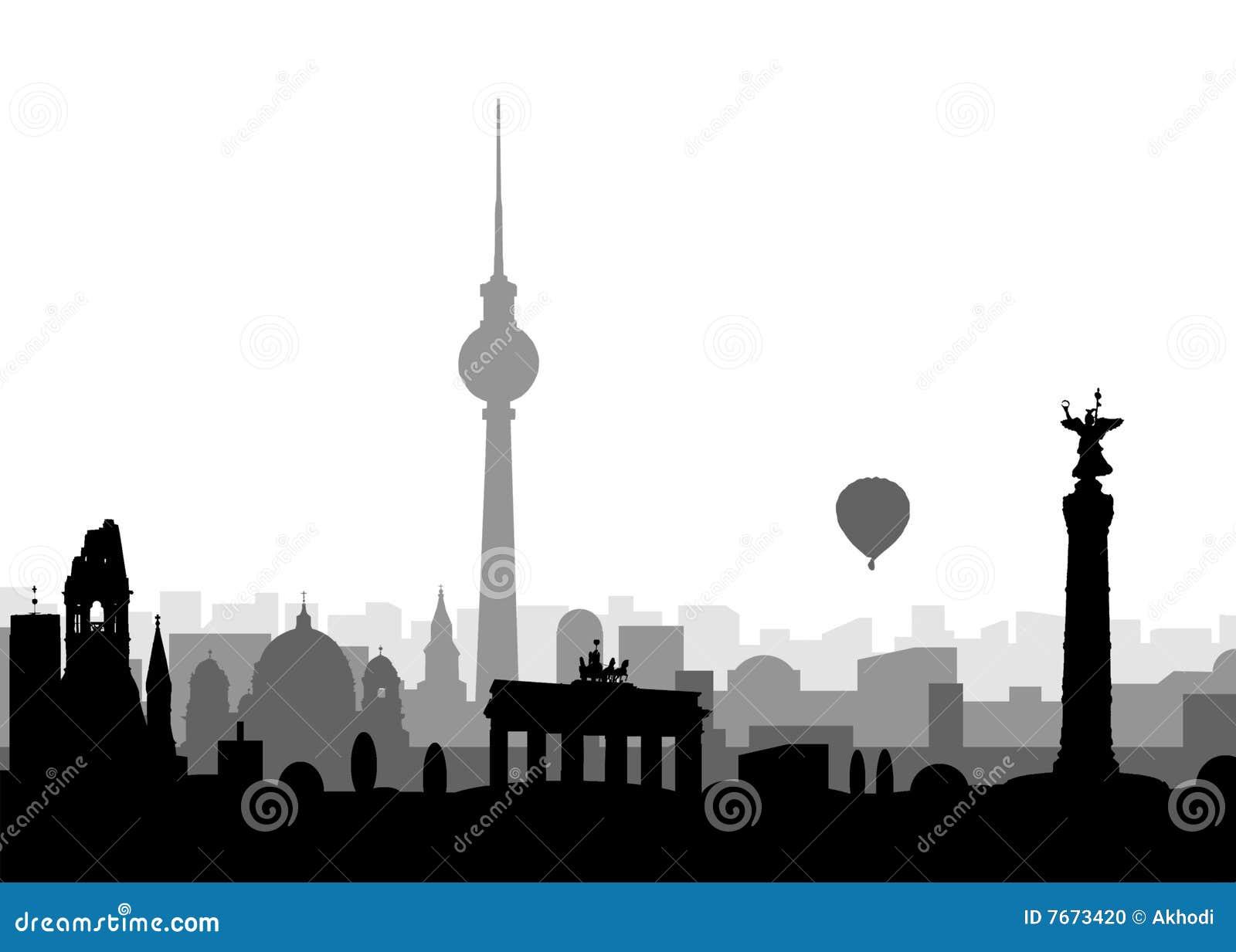 Silhouet van Berlijn