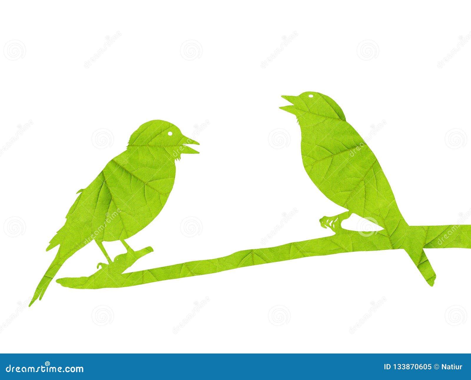Silhouet van geïsoleerde vogels