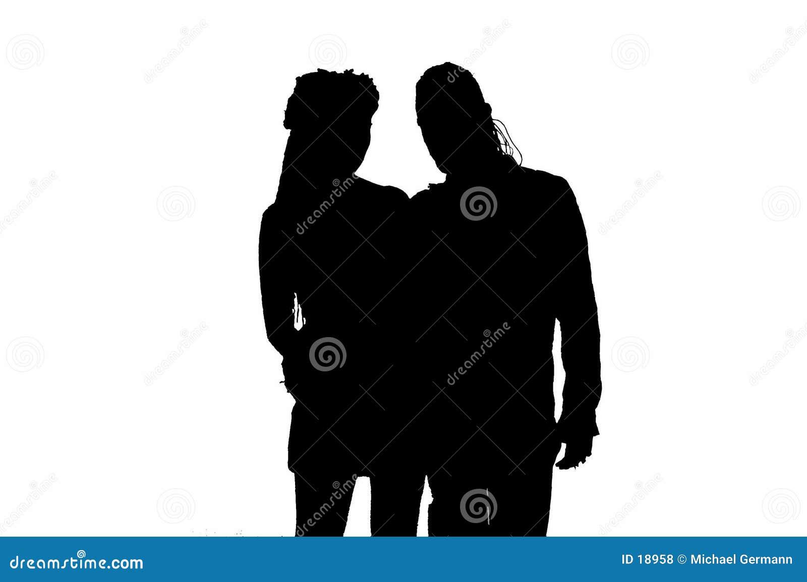Silhouet van Gotisch Paar