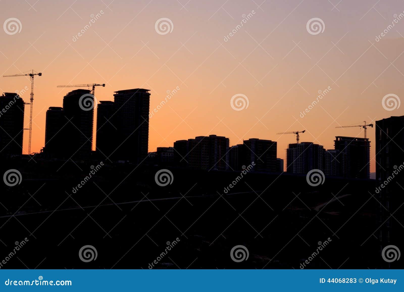 Silhouet van het gebouw