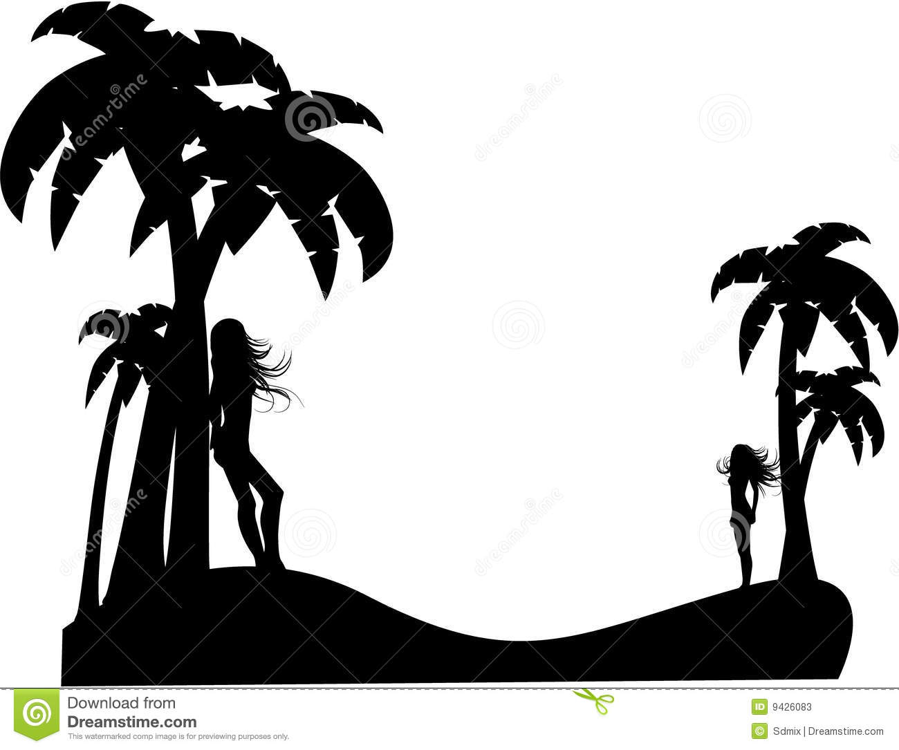 Beach vector silhouette galleryhip com the hippest galleries