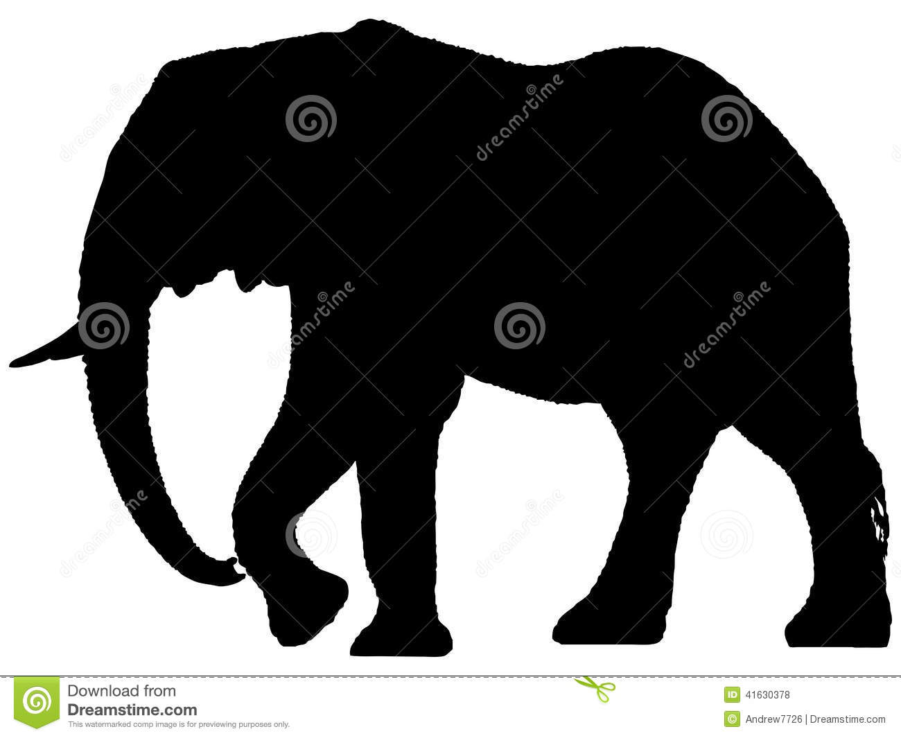 silhouette of african elephant