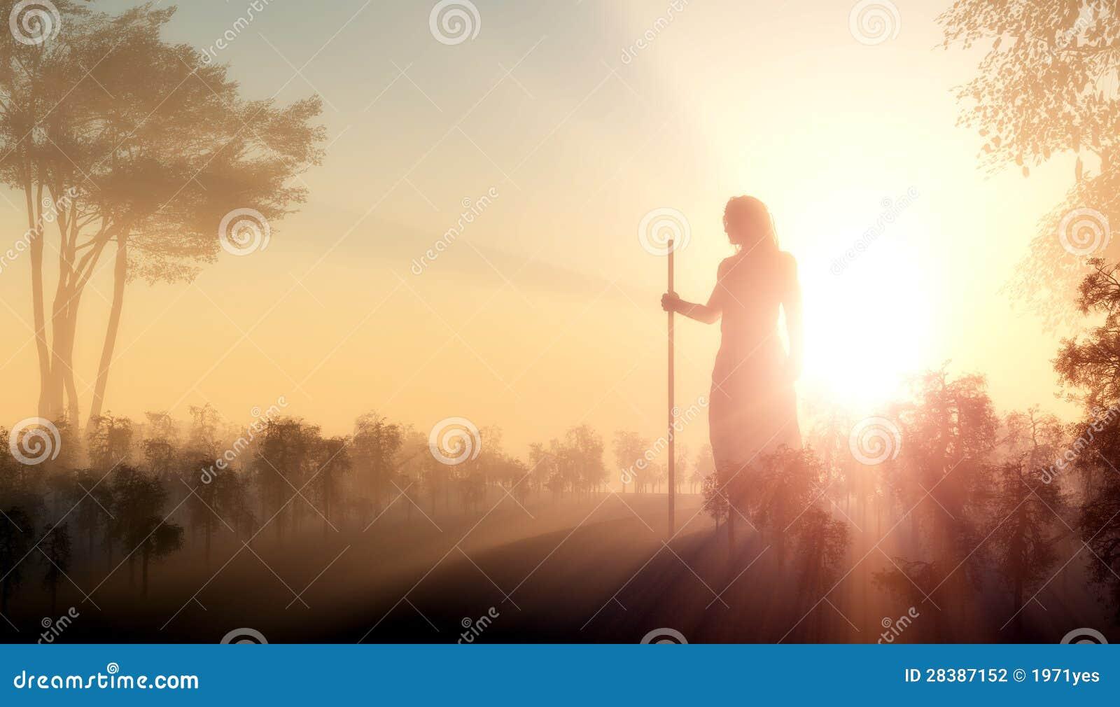Silhouette av Jesus