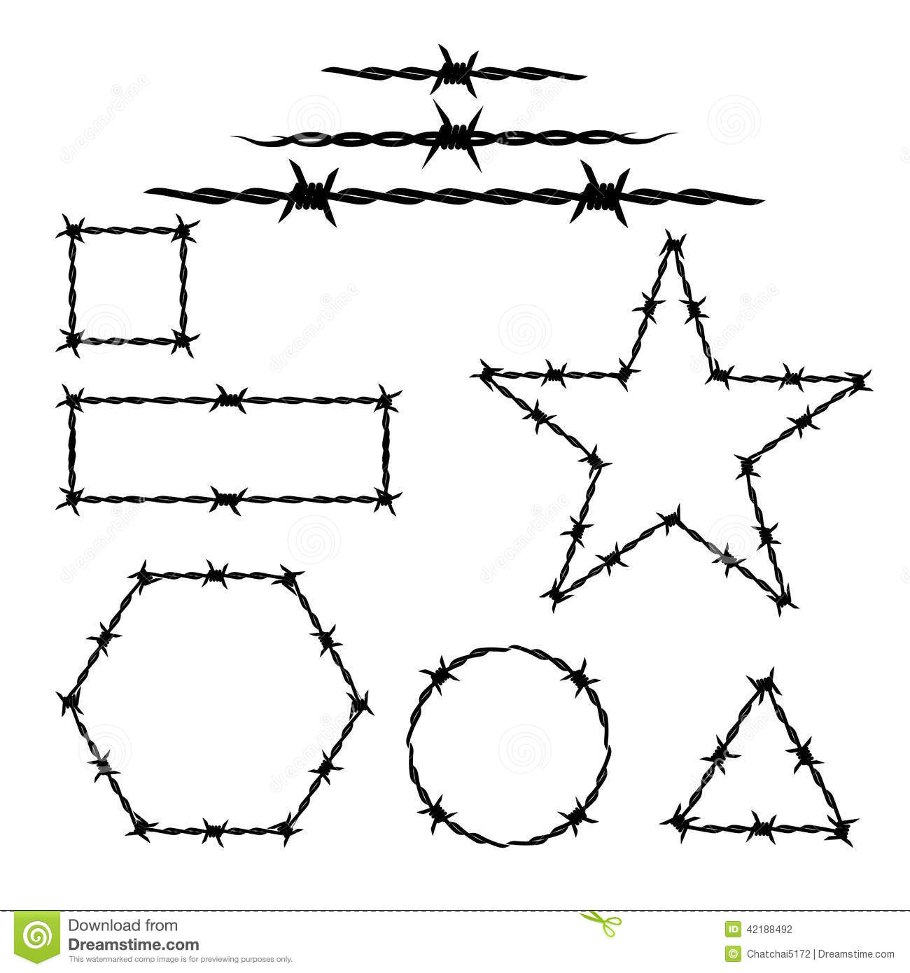 Silhouette Of The Barbwire Tattoo Stock Vector Image