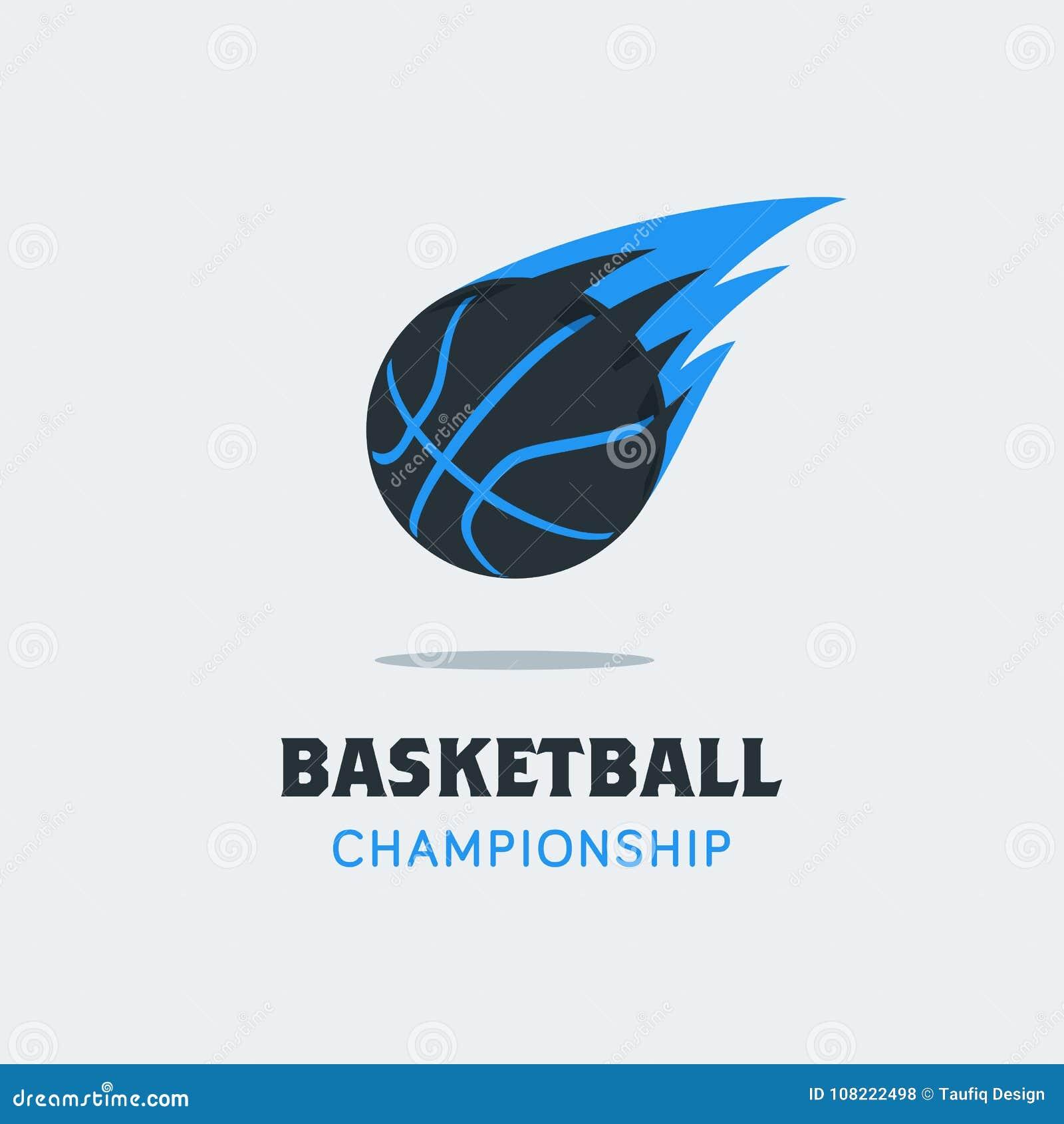 Silhouette Of Basketball Ball. Basketball Logo Template With ...