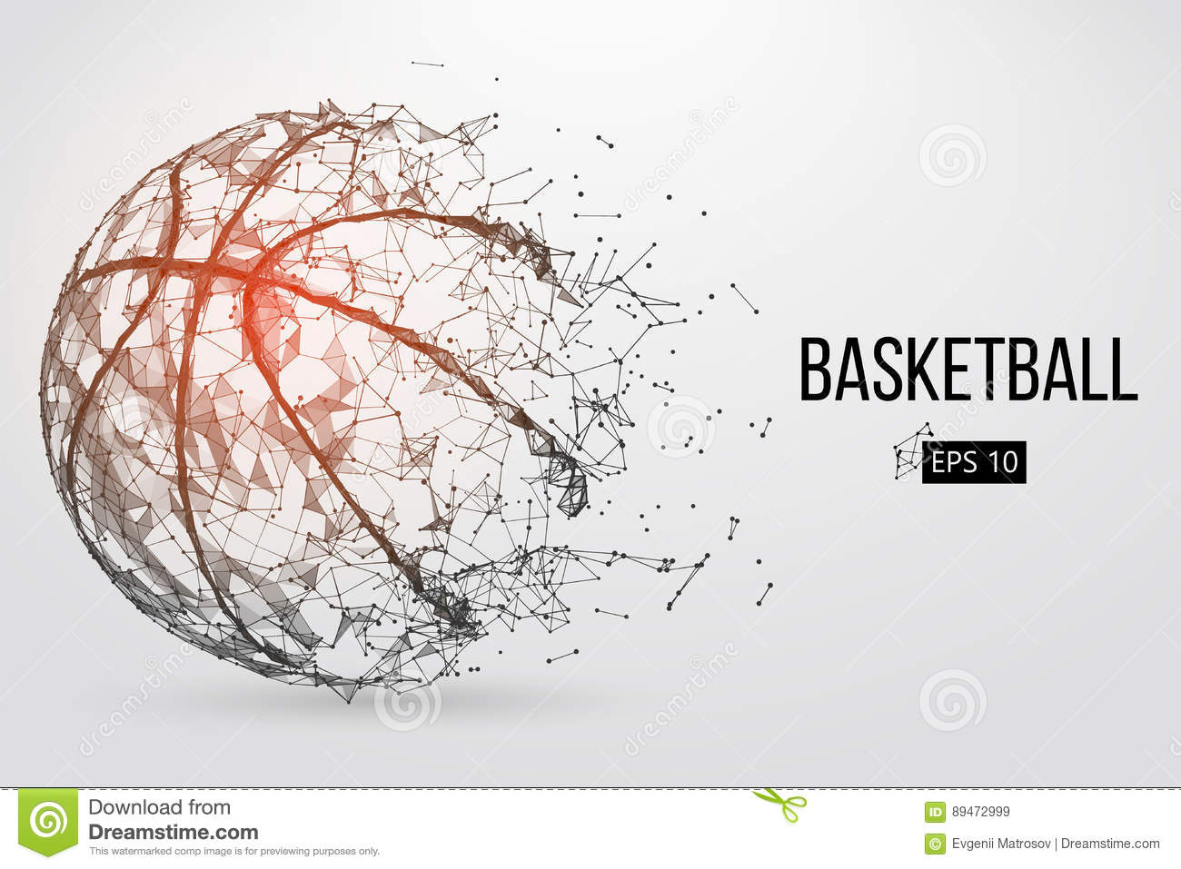 Download Silhouette Of A Basketball Ball. Vector Illustration Stock Vector - Illustration of abstract, lines: 89472999