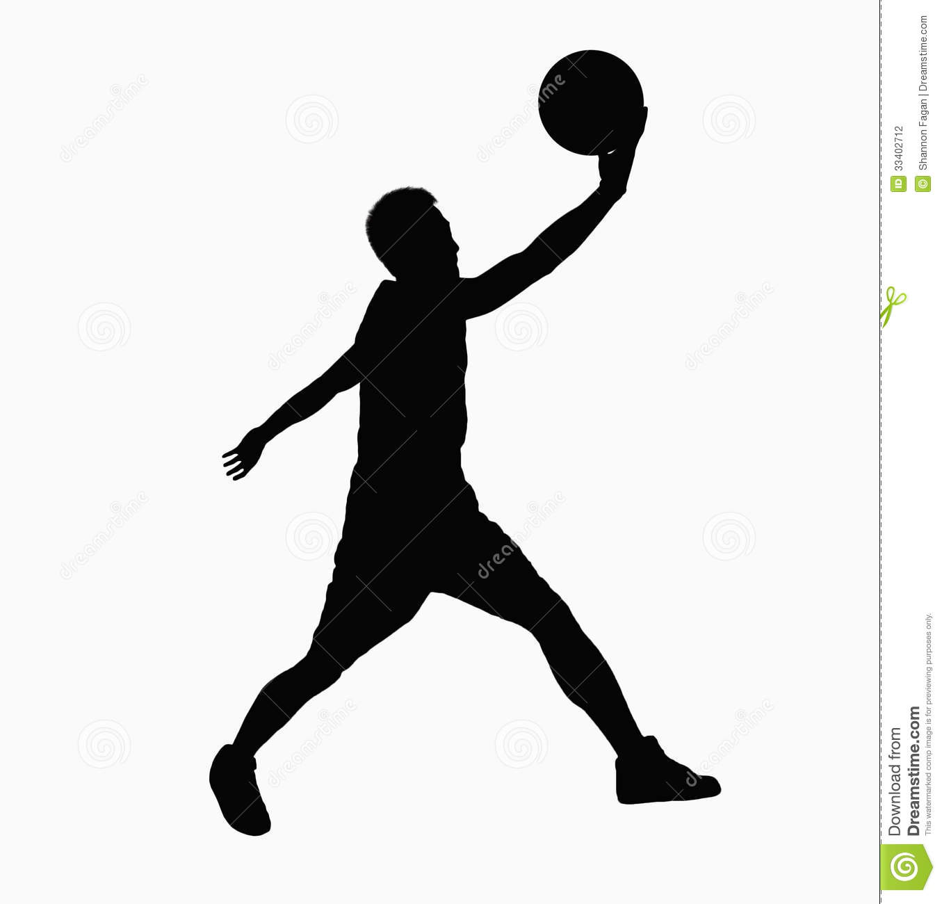 silhouette of basketball player jumping with ball