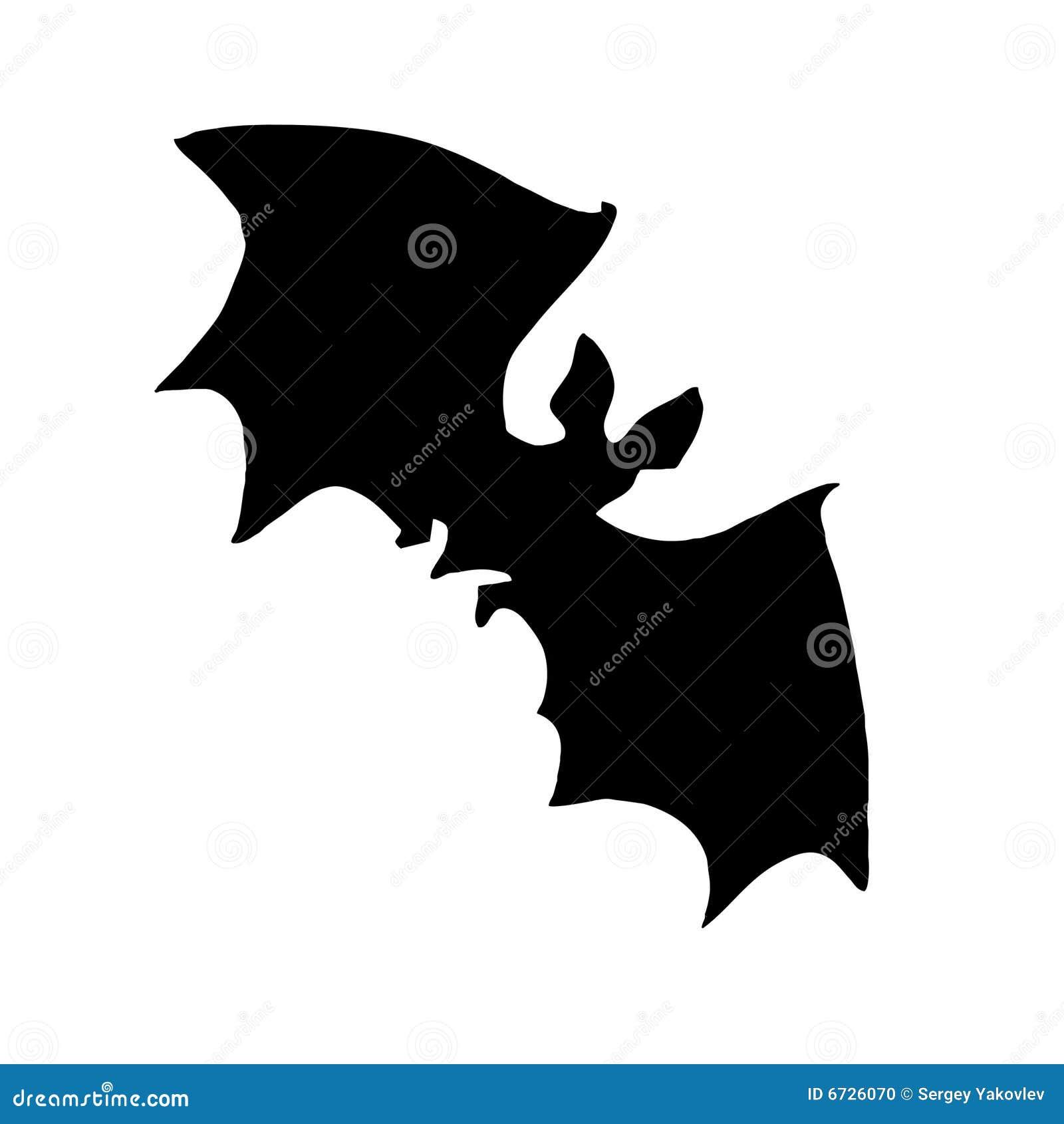 Silhouette Bat Stock Photo Image 6726070