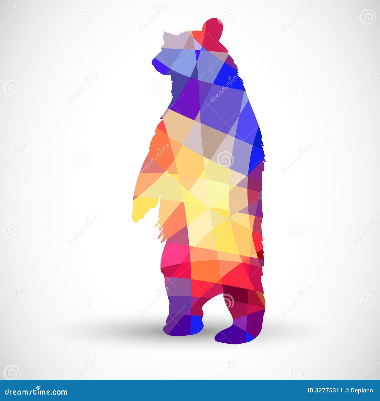 Geometric Bear Drawing Silhouette a bear of geometricGeometric Bear Drawing