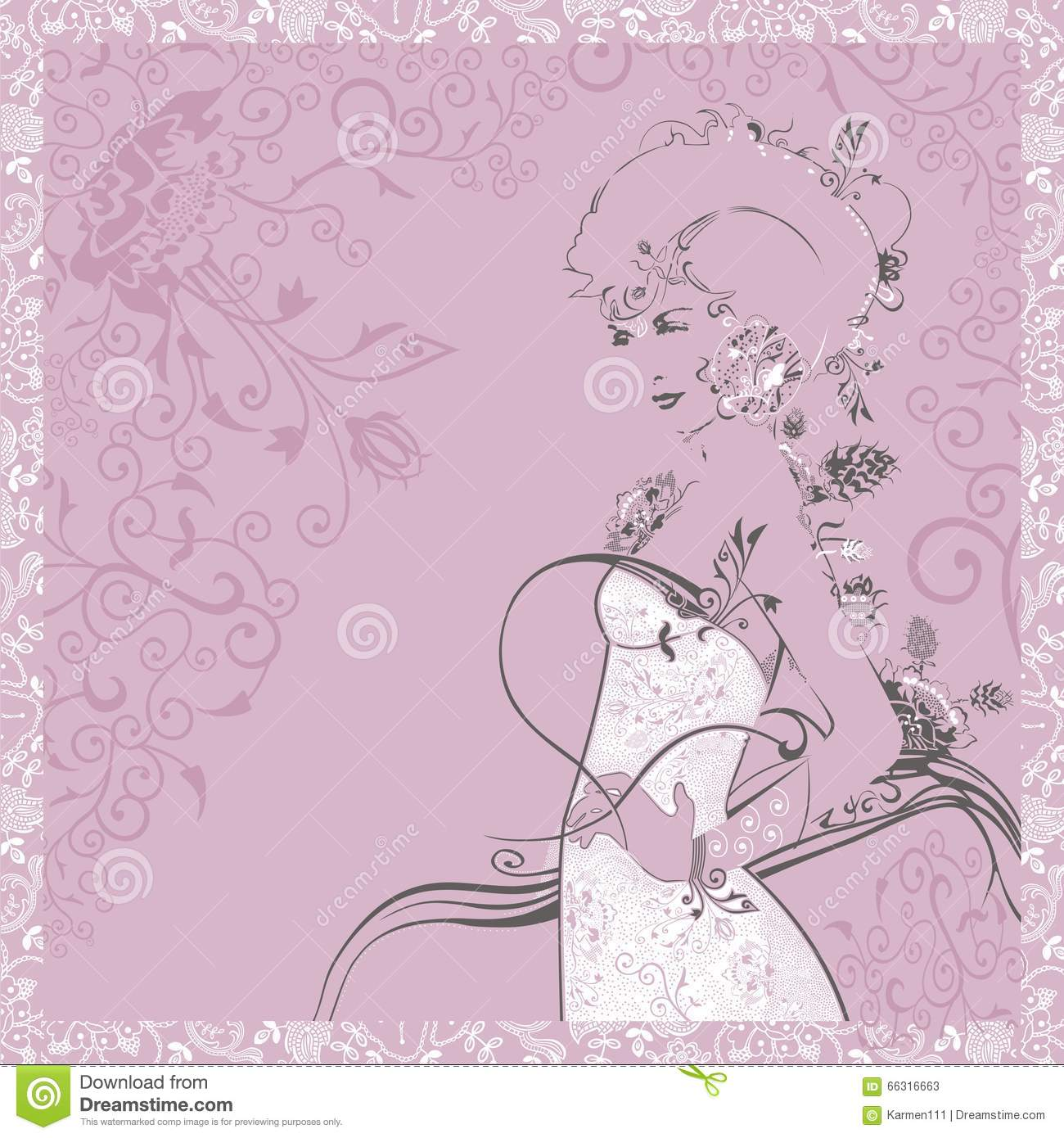 Silhouette of a beautiful and elegant woman in white dress greeting silhouette of a beautiful and elegant woman in white dress greeting card on march 8 m4hsunfo