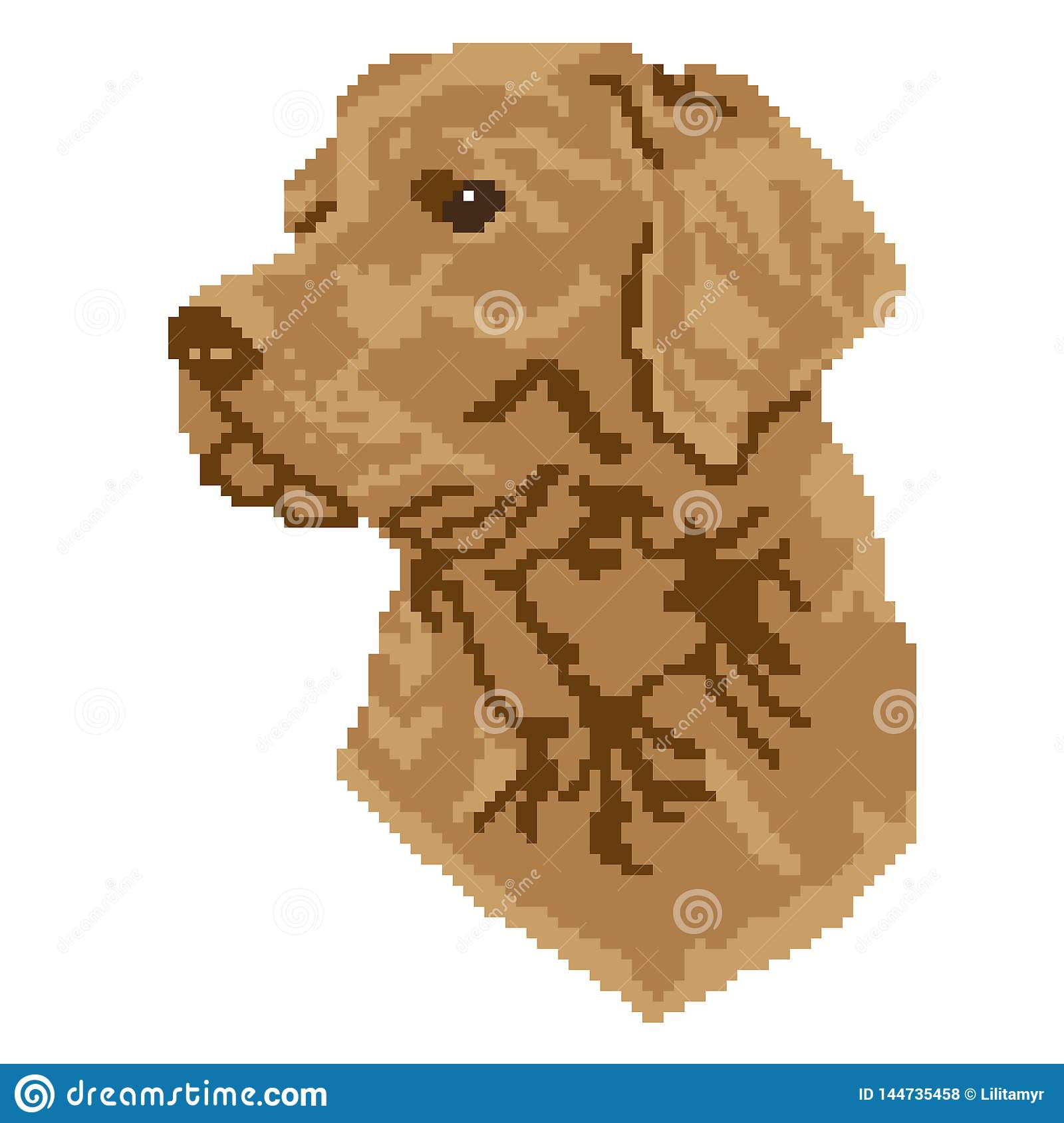 The Silhouette Of A Beige Brown Dog Breed Labrador Is A