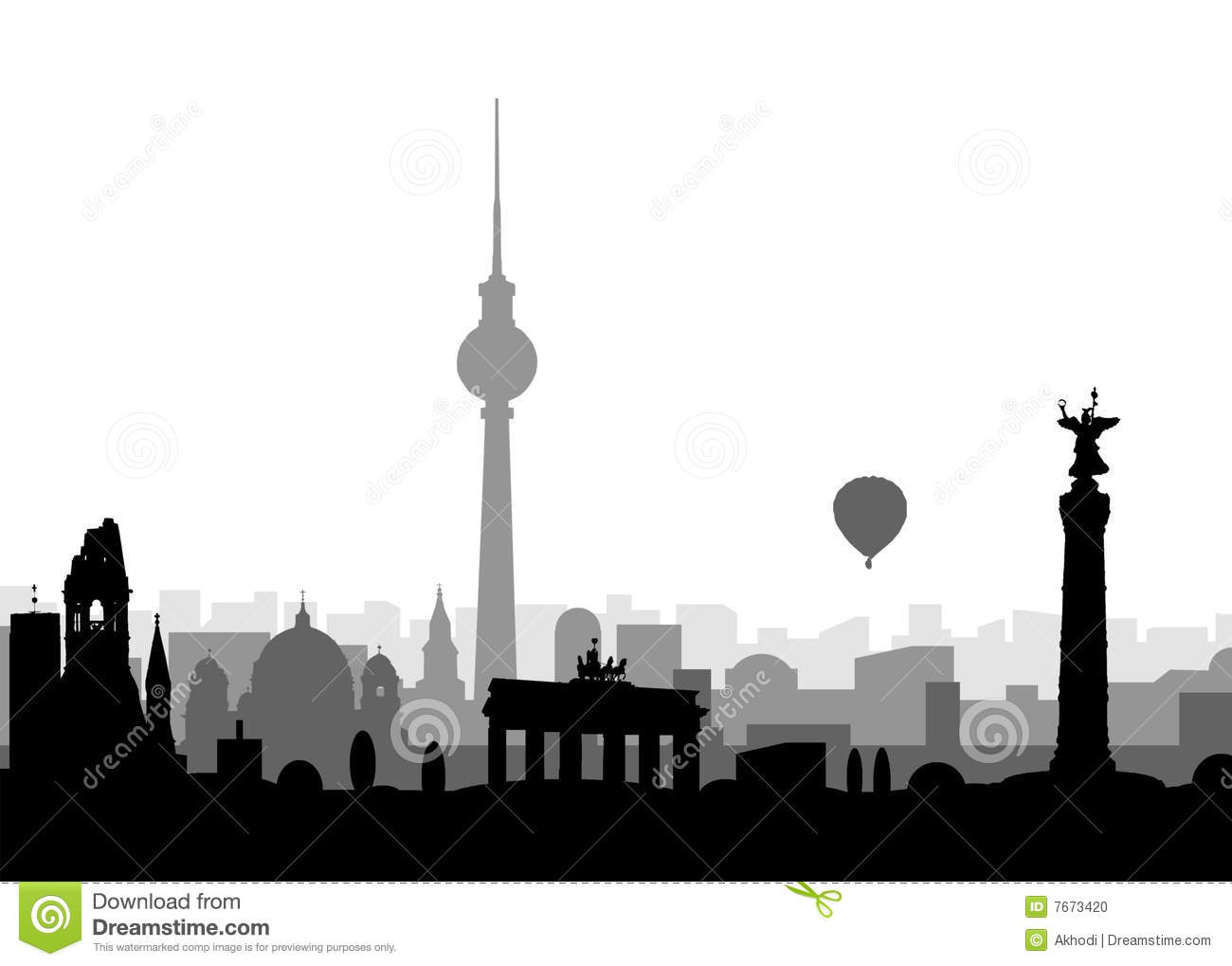 Stock Photo Silhouette Berlin Image7673420 on 3d art deco architecture