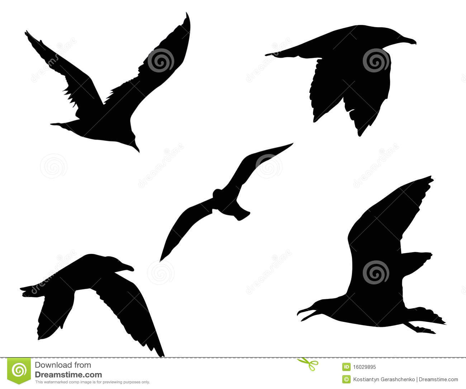 Silhouette Of A Bird Stock Illustration. Illustration Of
