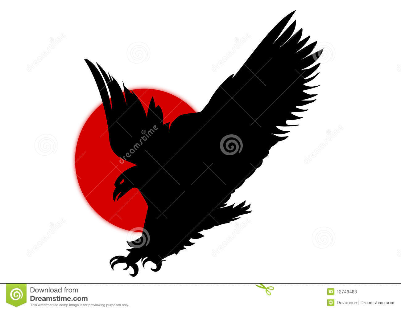 Silhouette Black Eagle Flying Royalty Free Stock Photos - Image ... Eagle Silhouette Vector