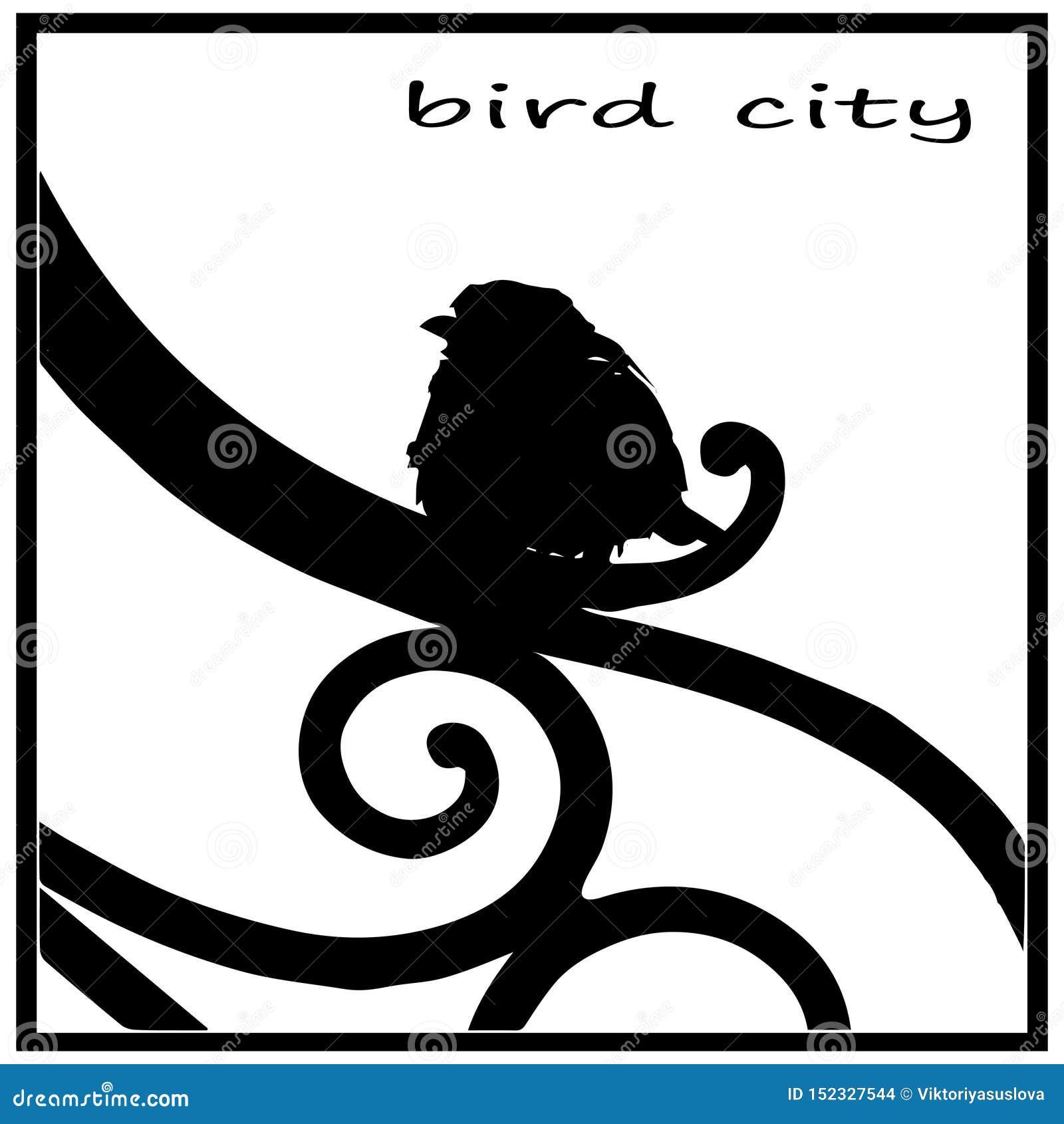 Silhouette blanche noire, image d oiseau, moineau se reposant sur la barrière du jardin de ville