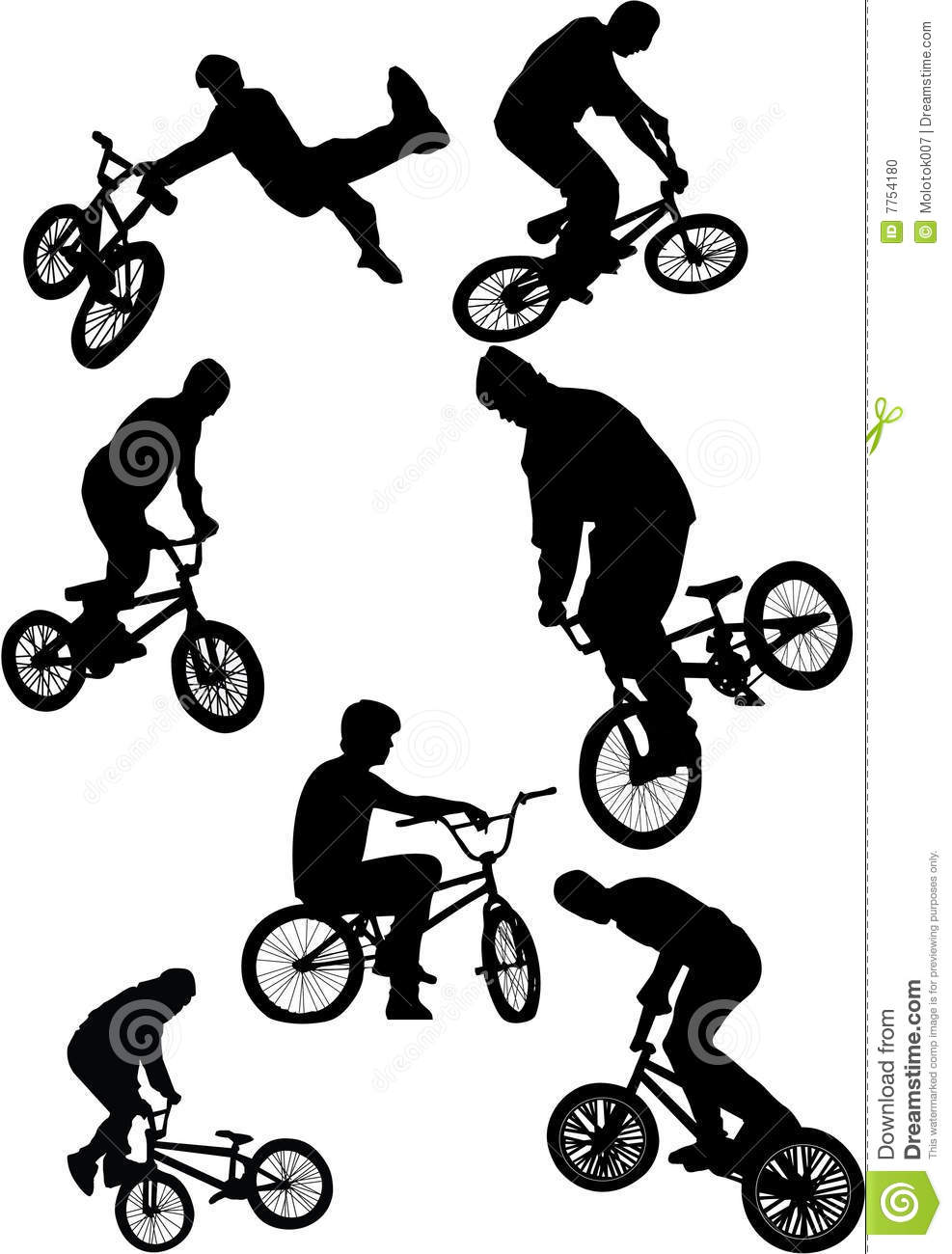 Outline Of A Bmx Images & Pictures - Becuo