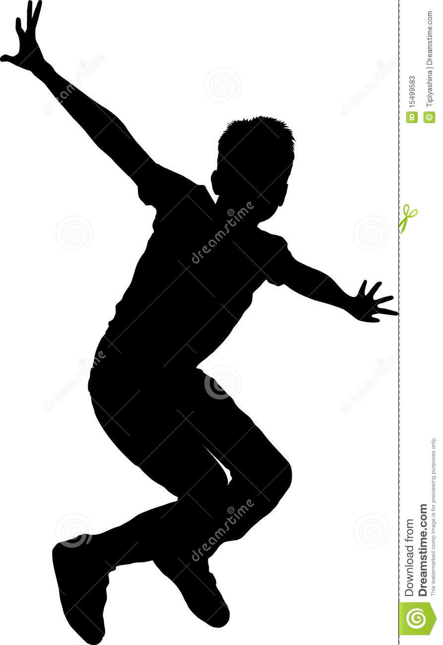 Silhouette boy, vector illustration and can be scaled to any size and ...