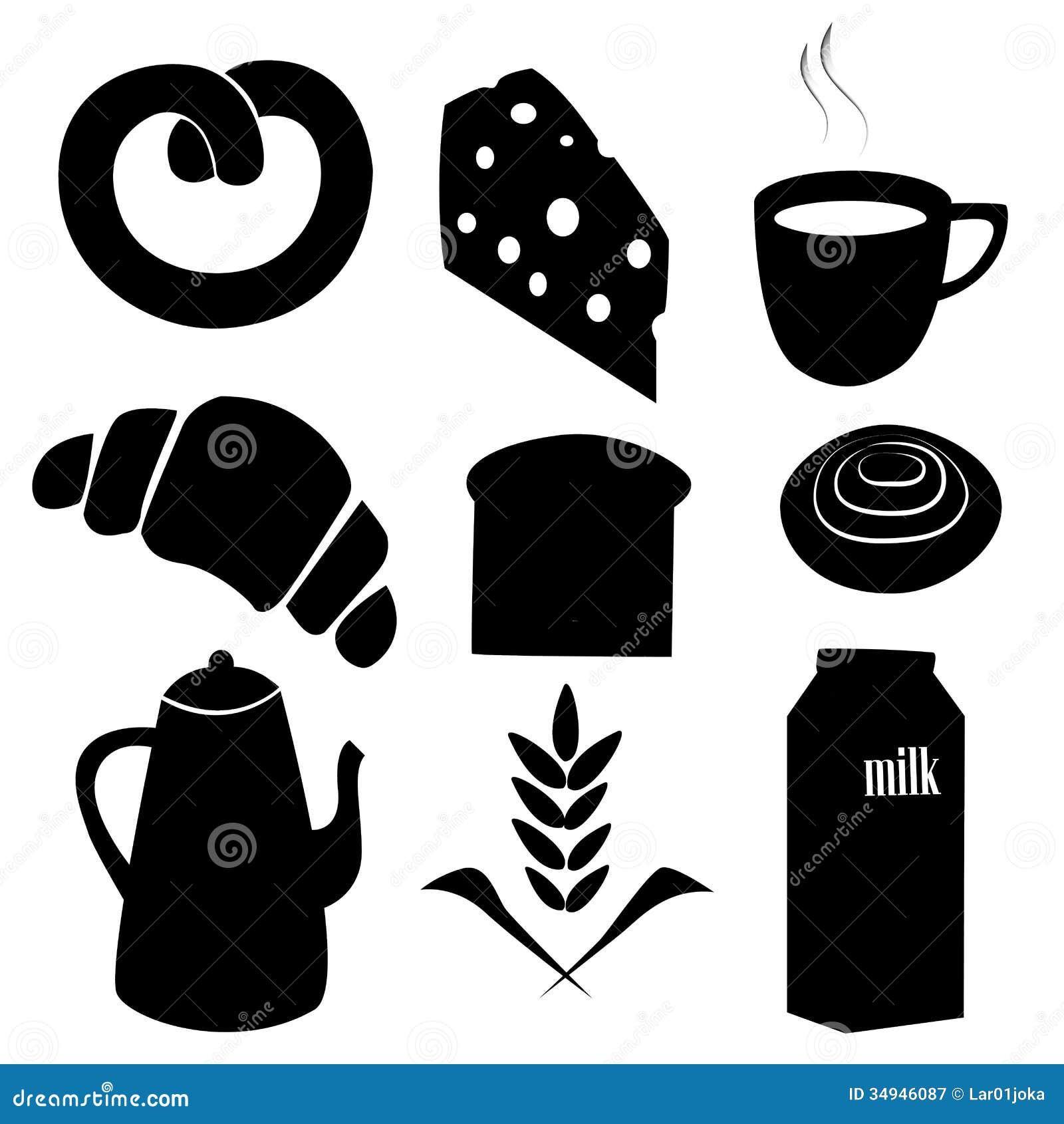 Silhouette For Breakfast Stock Illustration Illustration