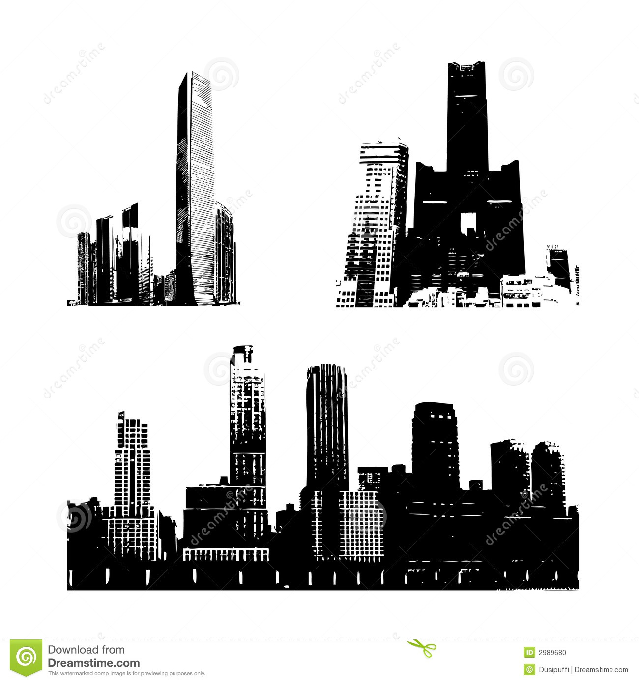 silhouette buildings stock illustration. illustration of beauty
