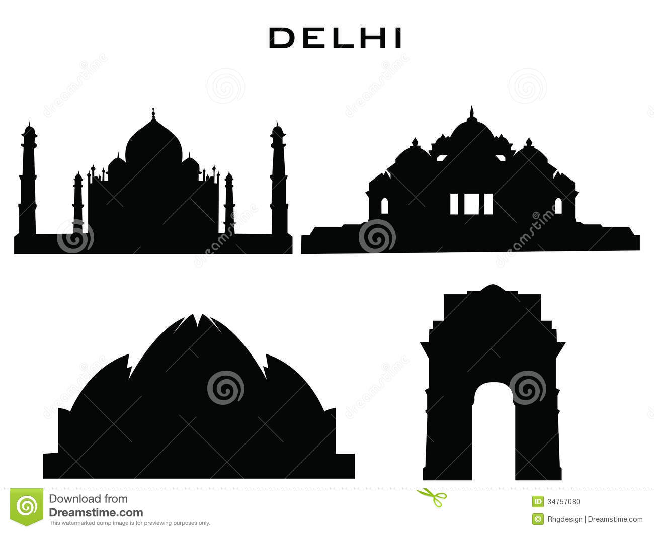 Building Silhouette Clip Art Silhouette buildings delhi