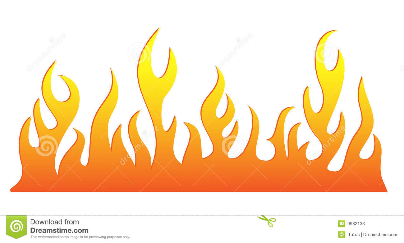 Silhouette Of Burning Fire Flame Stock Photos Image 9982133