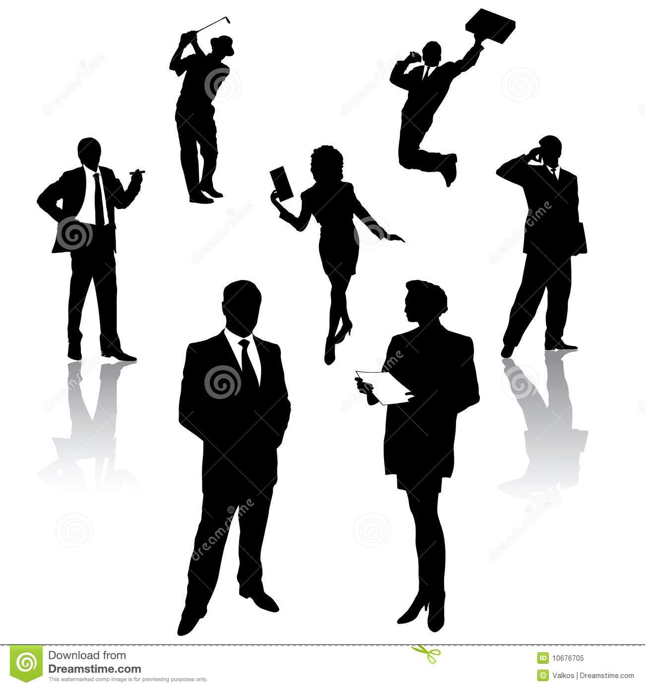 Silhouette Of Business People Royalty Free Stock Photo ...