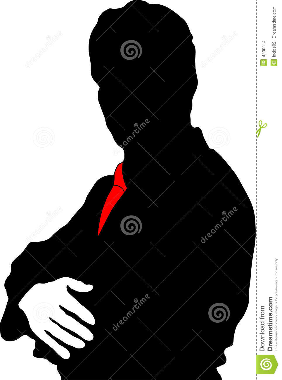 Silhouette businessman