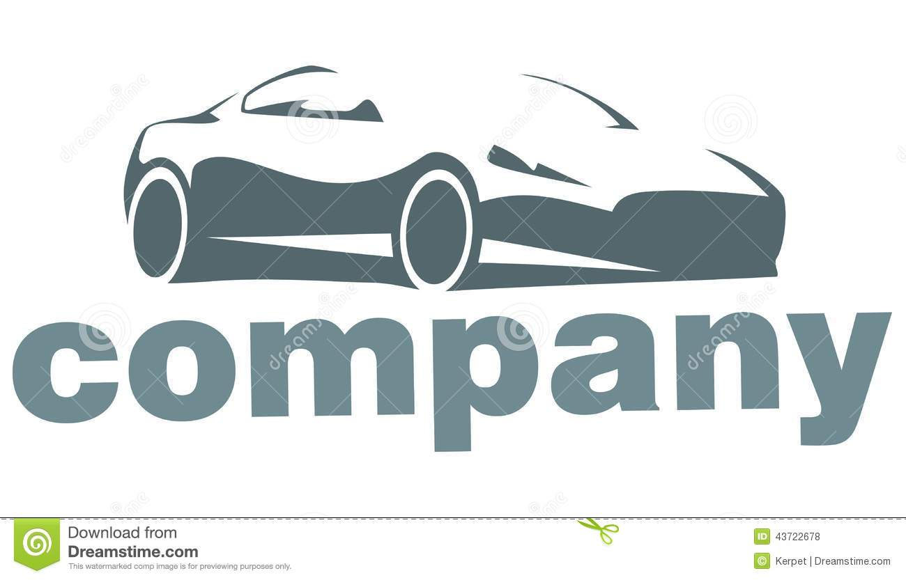 The Car Company >> Silhouette Of The Car Company Logo Stock Vector
